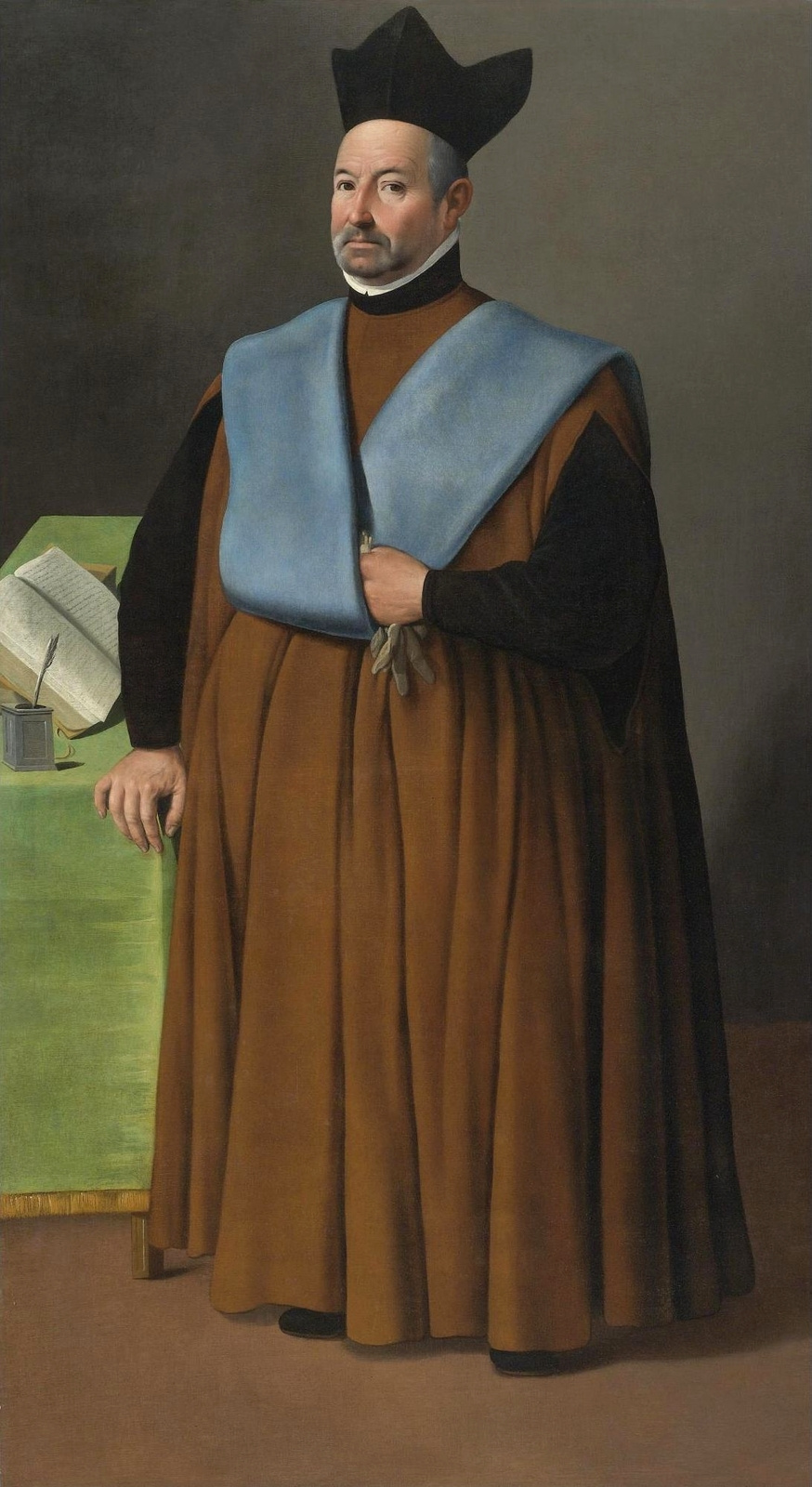 Francisco de Zurbaran. Portrait of doctor Juan Martinez Serrano