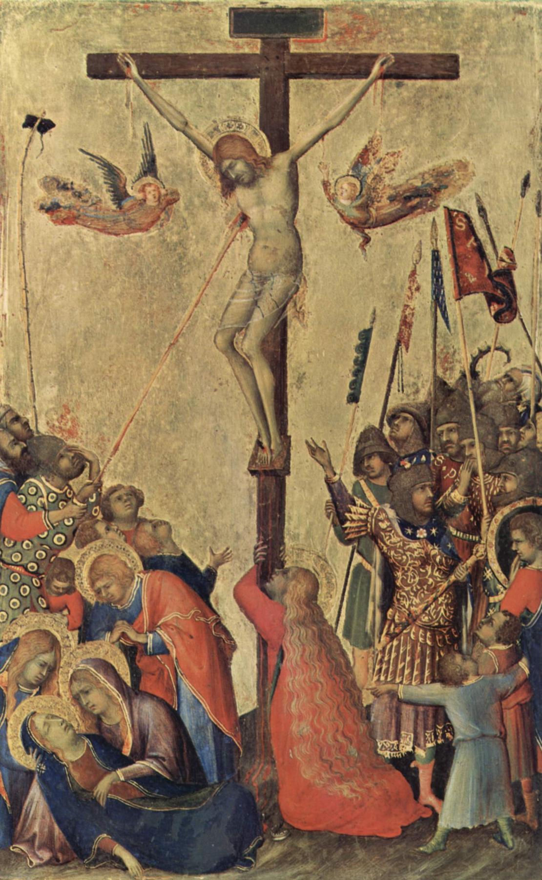Simone Martini. The Altar Orsini. The crucifixion