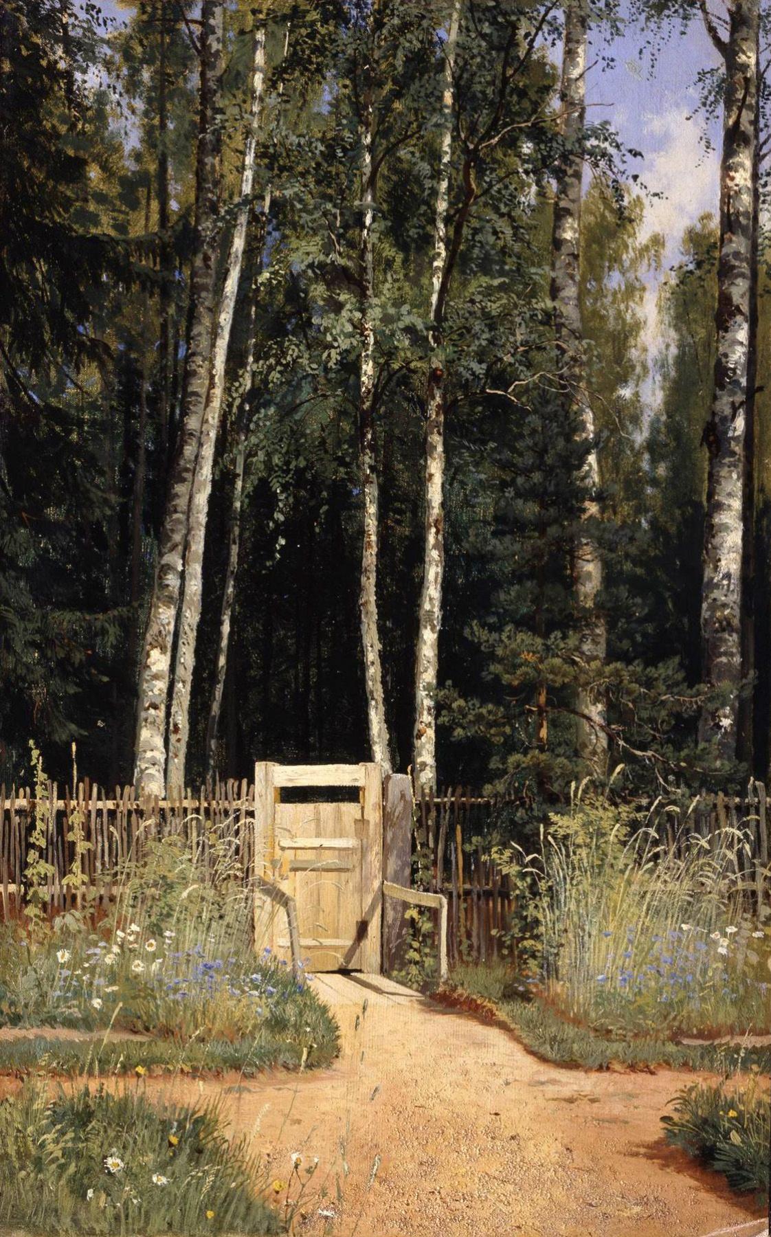 Ivan Ivanovich Shishkin. At the gate. Siverskiy