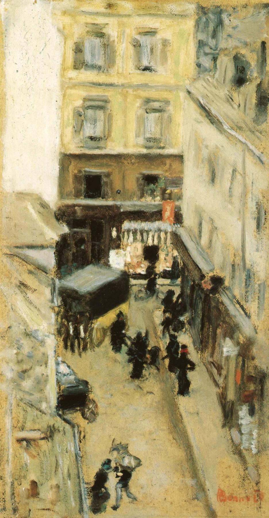 Pierre Bonnard. Narrow street of Paris