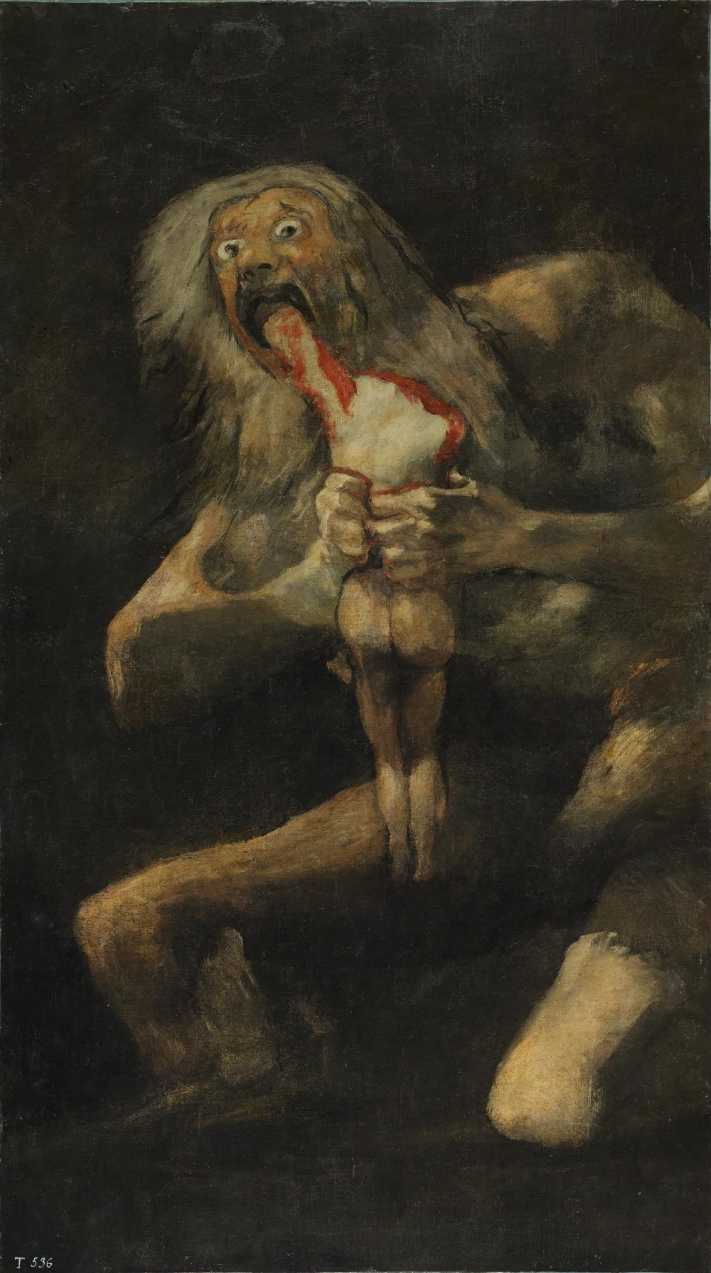 Francisco Goya. A series of gloomy paintings. Saturn devouring his children