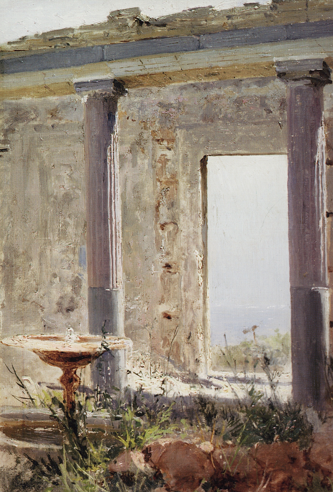Vasily Polenov. Ruins of a palace in Palestine