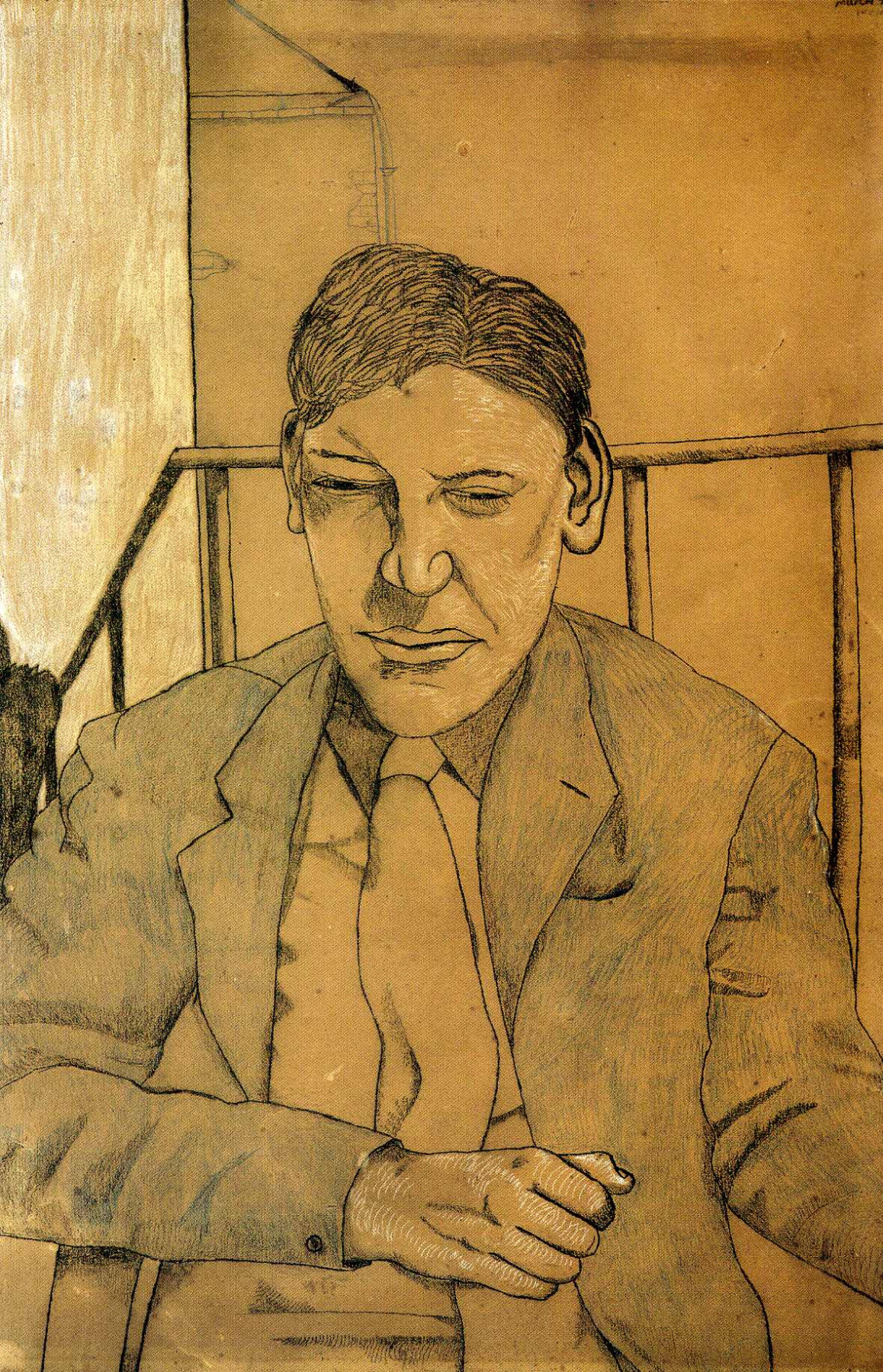 Lucien Freud. The guy on the balcony