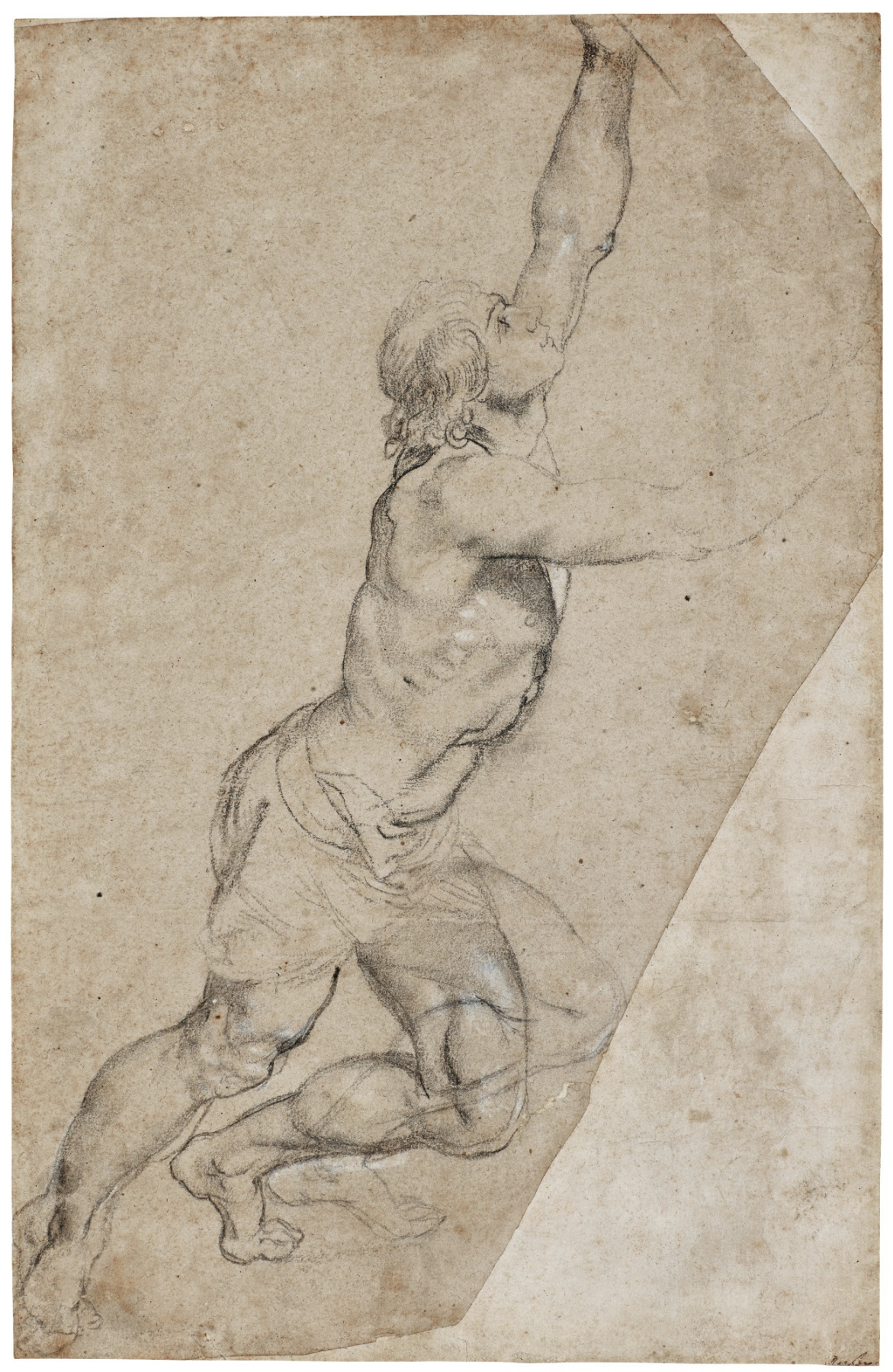 Peter Paul Rubens. Nude Study of a Young Man with Raised Arms