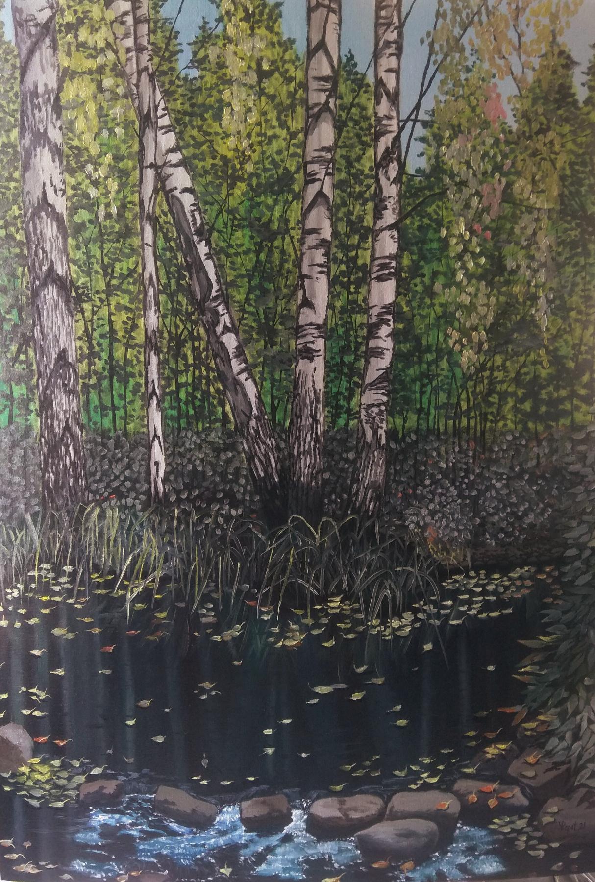 Vladimir Adamovich Ropot. In the shade of a stream
