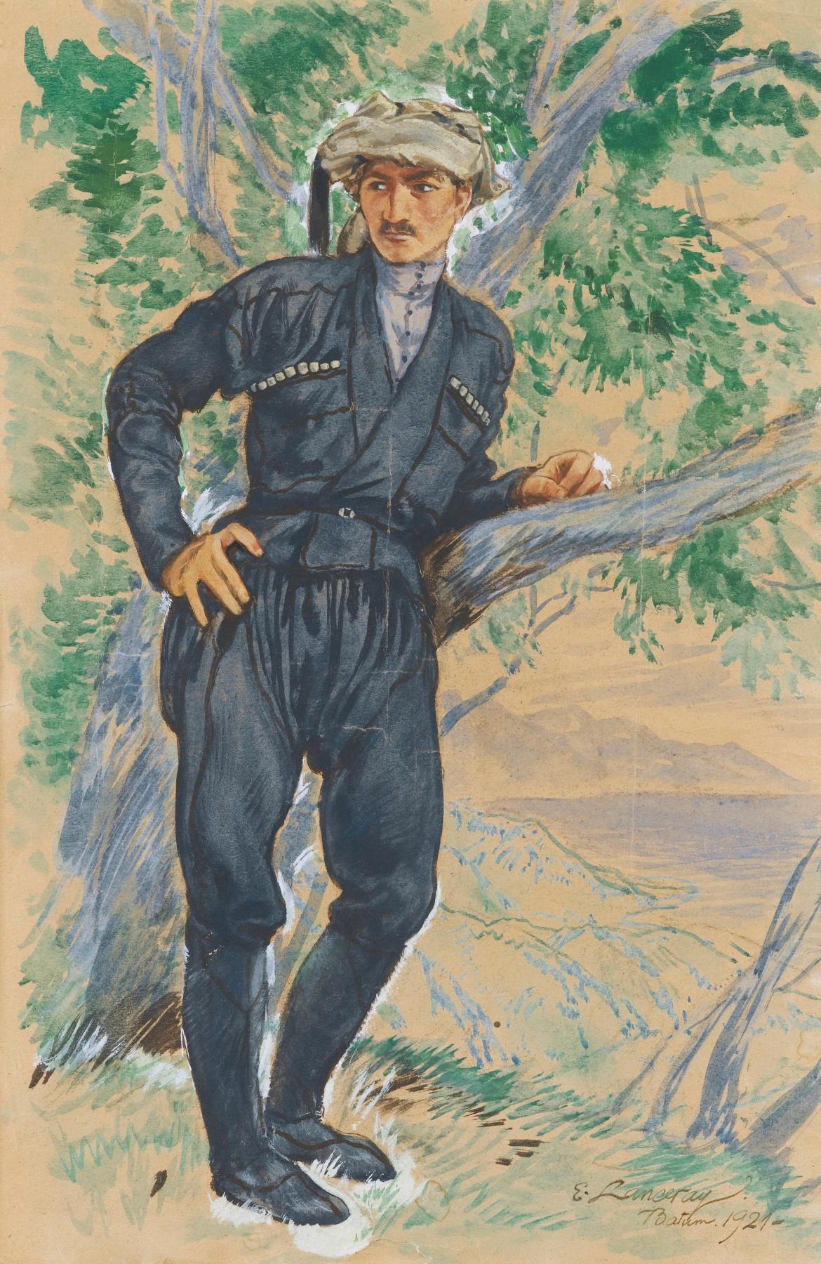 Evgeniy Evgenievich Lansere. Young greek
