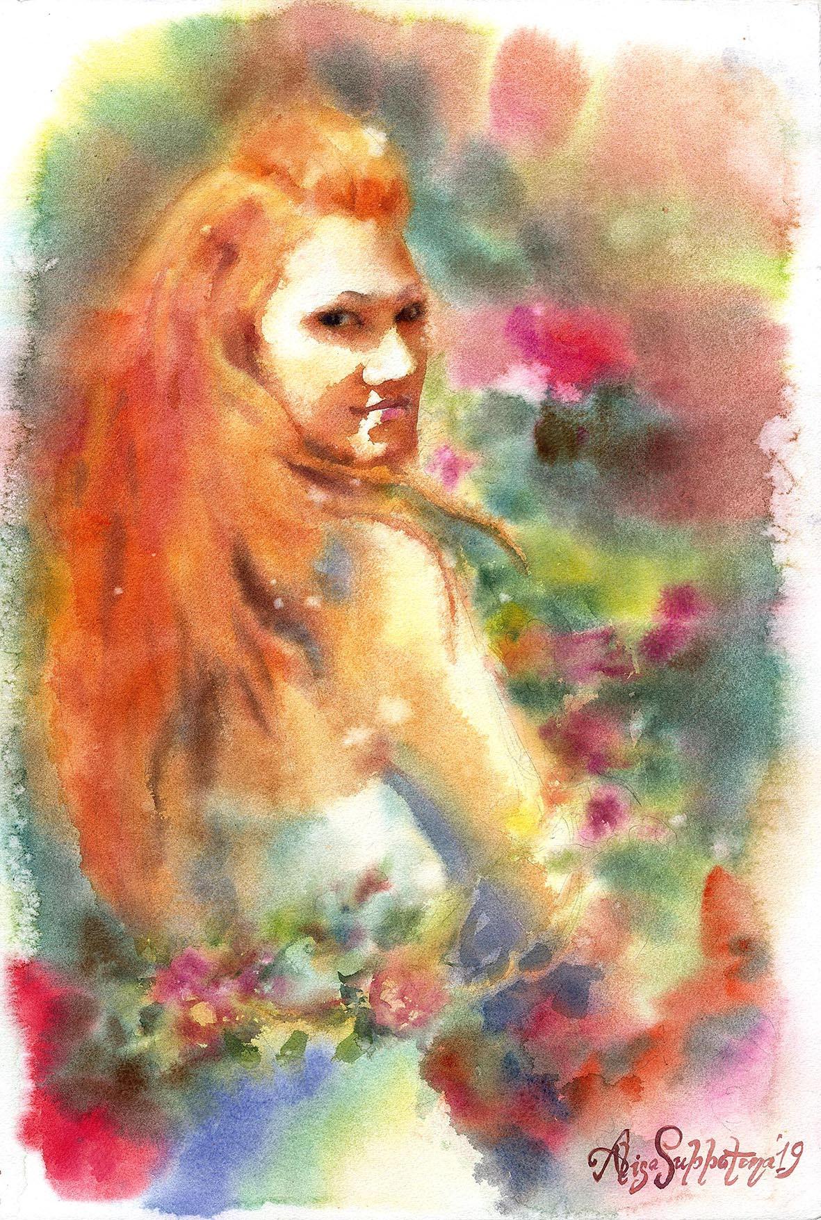 "Alisa Alexandrovna Subbotina. Series ""In the image of color"" Self-portrait"
