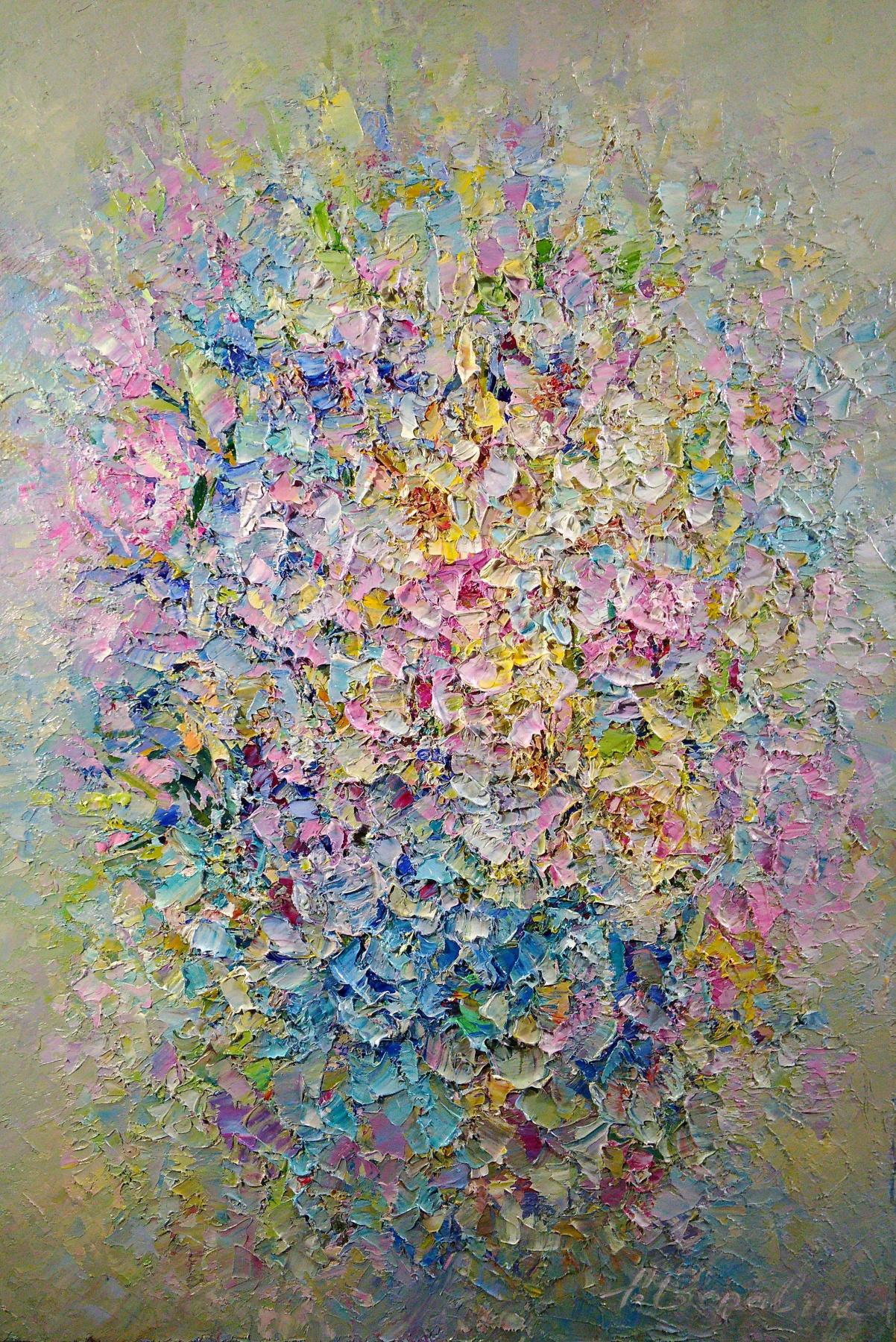 Andrei Ivanovich Boravik. Morning Forest Violets
