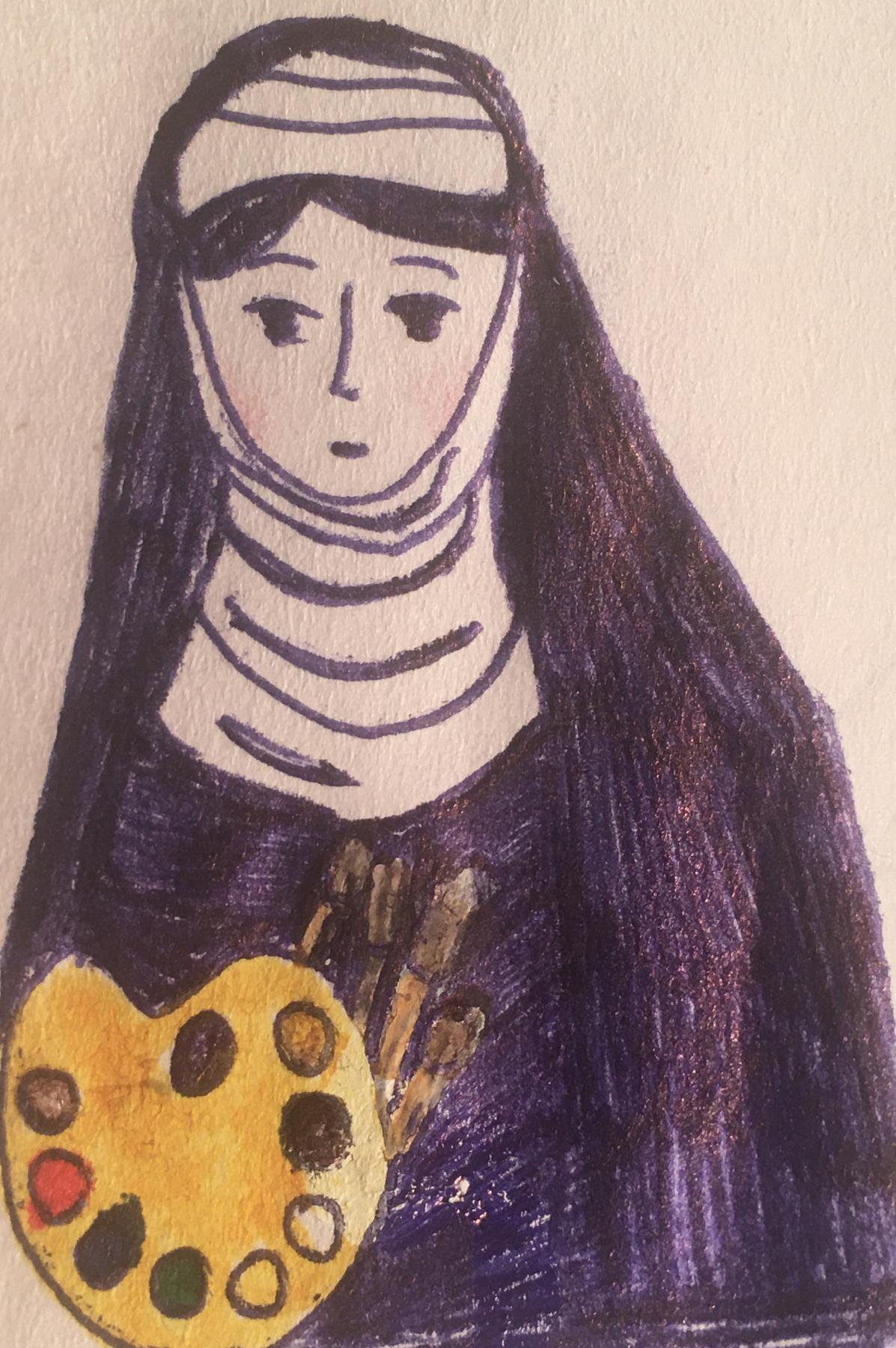 Alexandra Zakharyan. Plavtilla's portrait