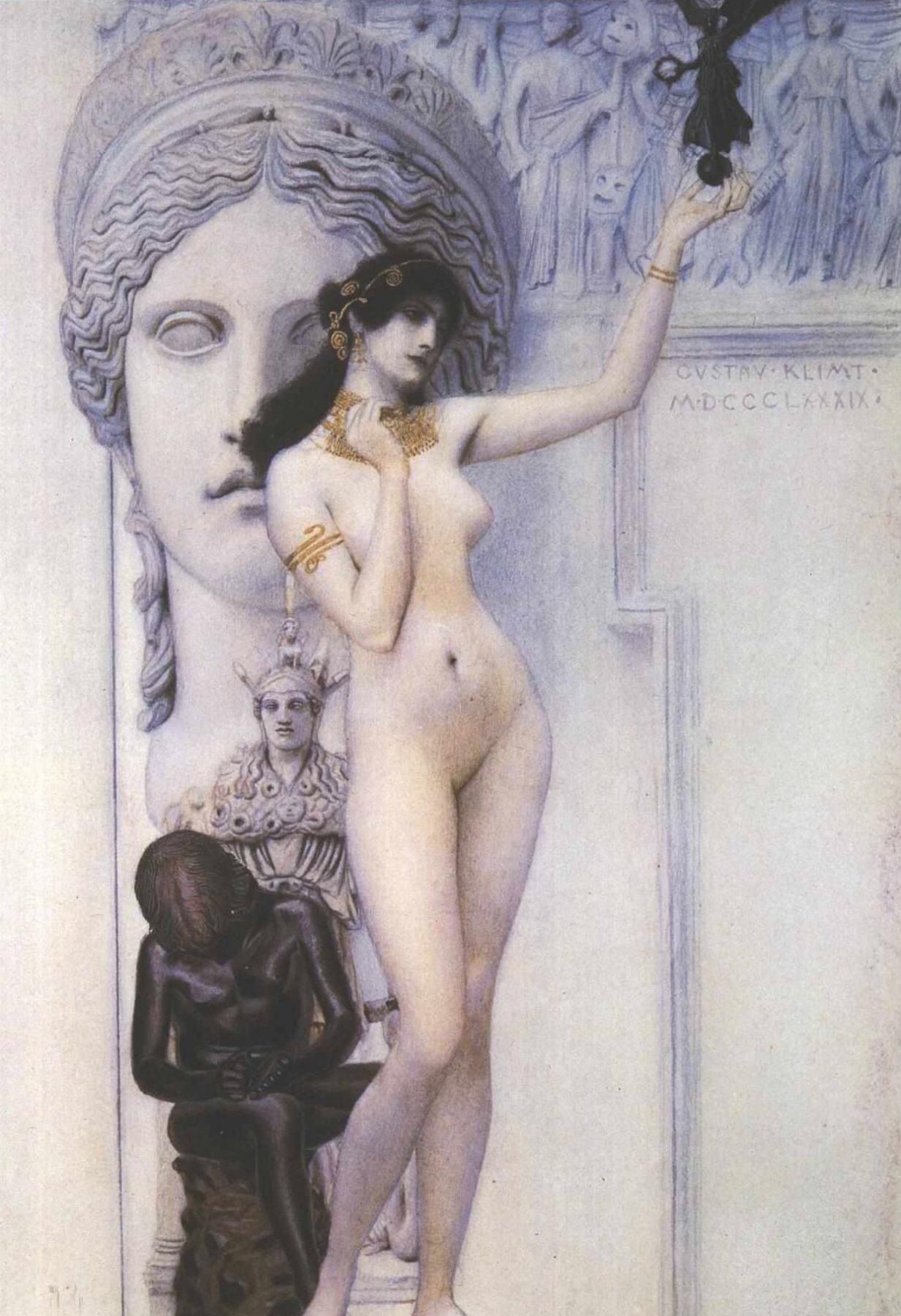 Gustav Klimt. Allegory of sculpture