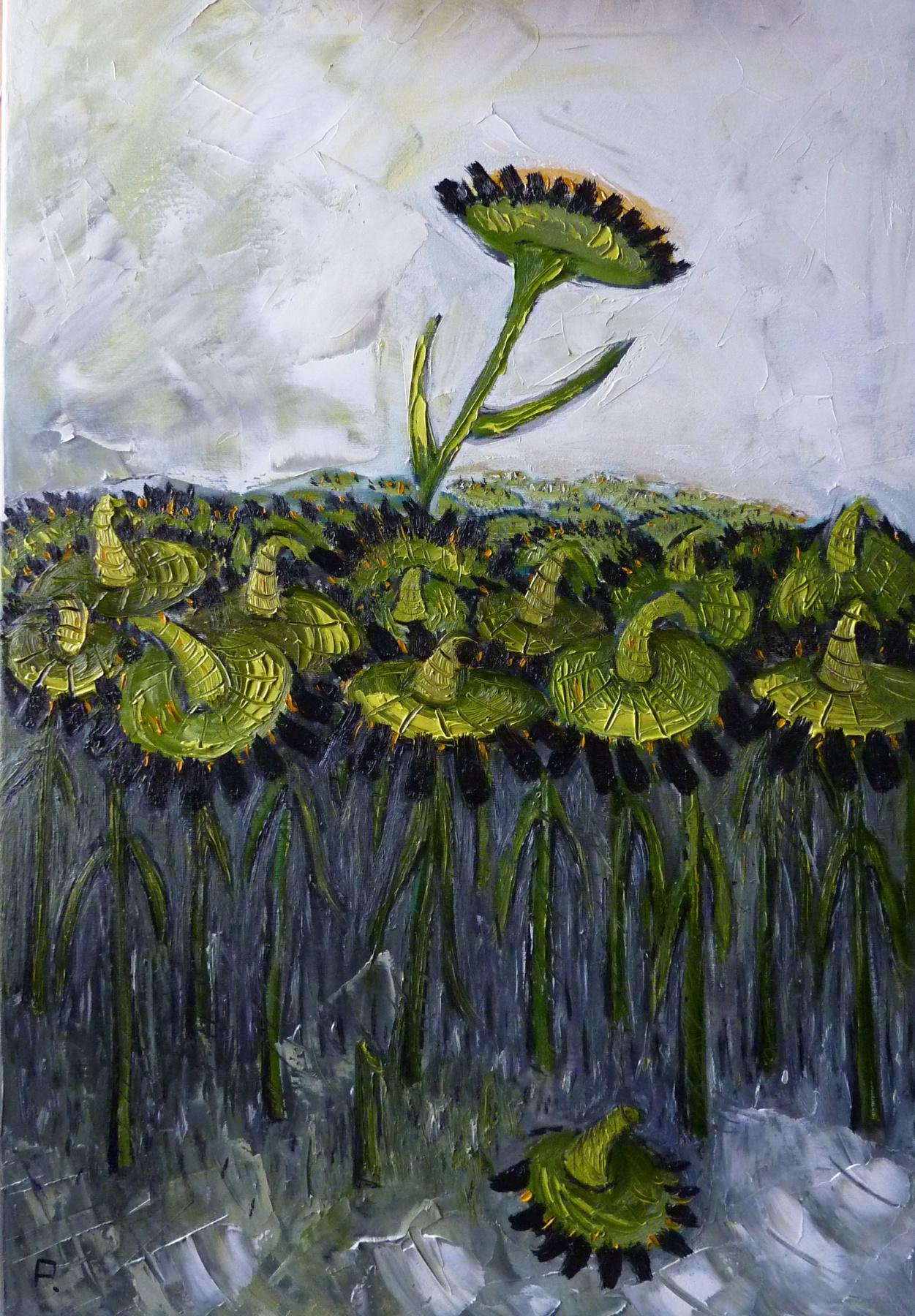 Svyatoslav Ryabkin. Sunflowers Sunflowers