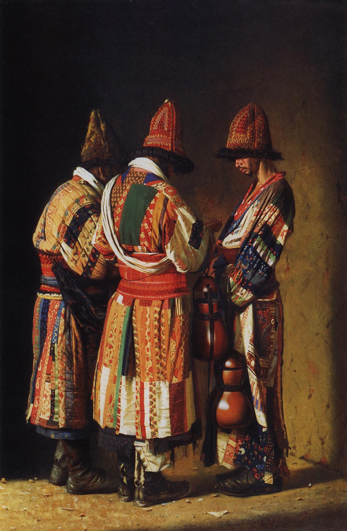 Vasily Vereshchagin. Dervishes in festive outfits