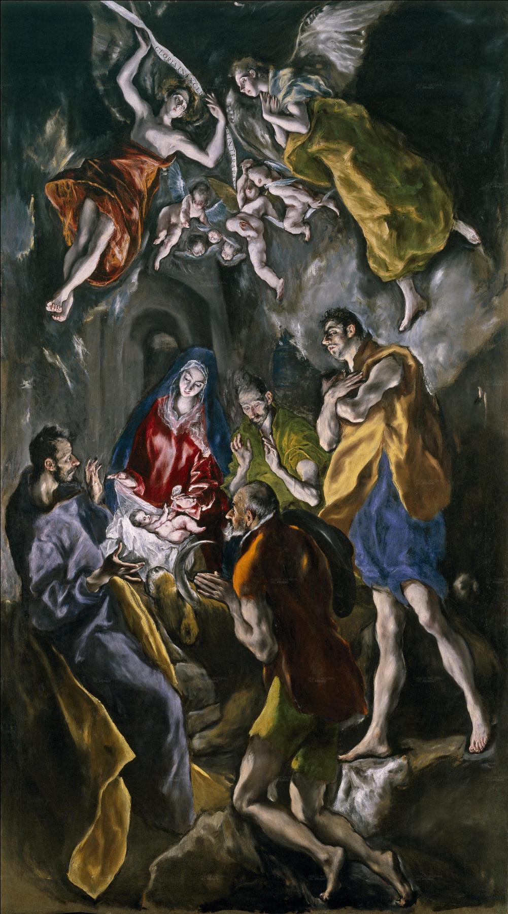Domenico Theotokopoulos (El Greco). The adoration of the shepherds