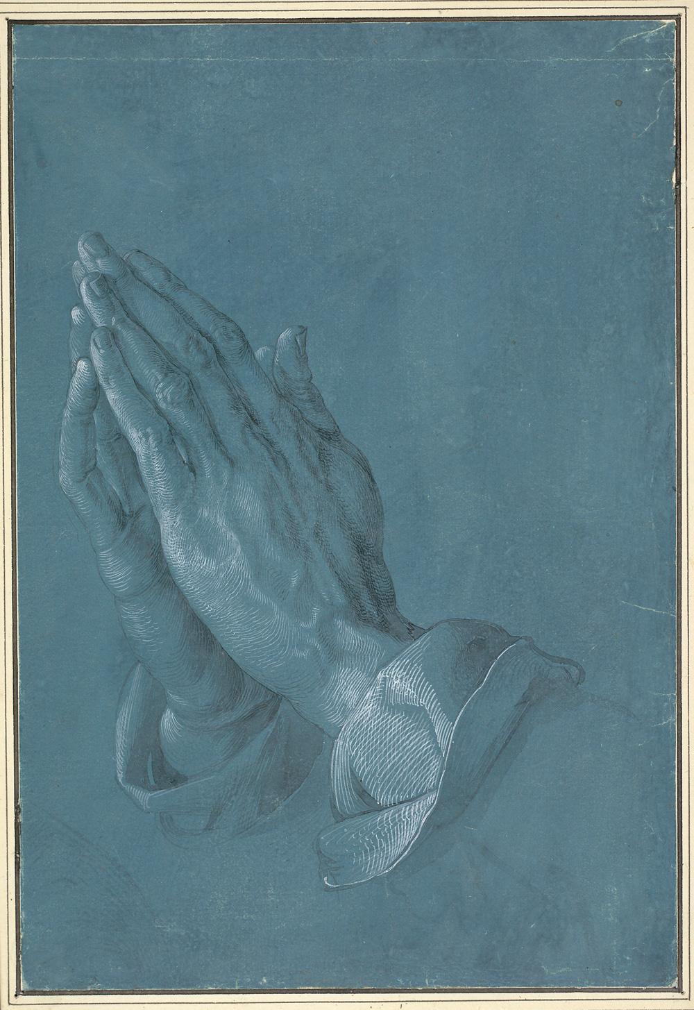 Albrecht Durer. Praying hands (the hands of the Apostle)