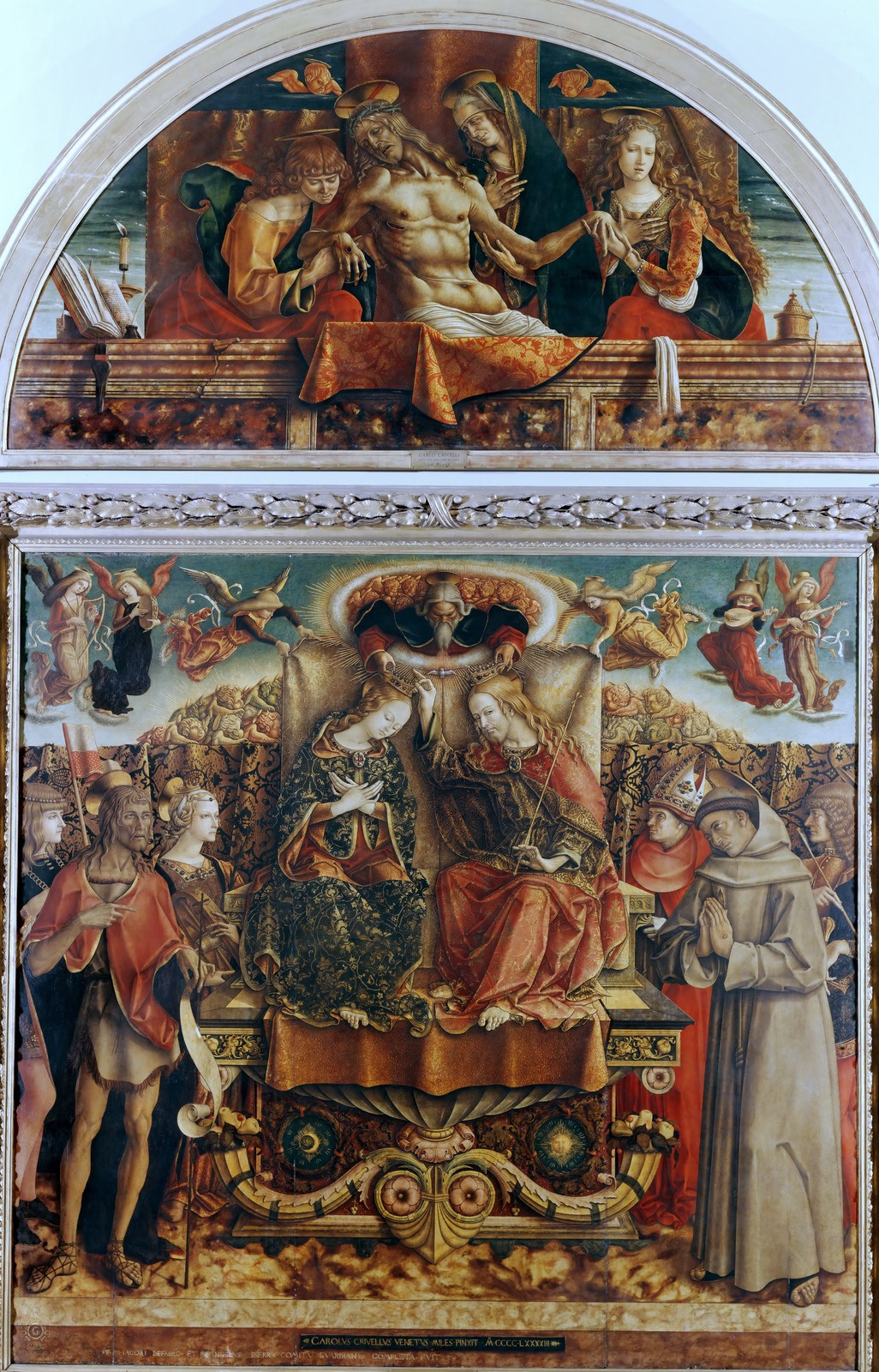 Carlo Crivelli. Coronation of the Virgin Mary