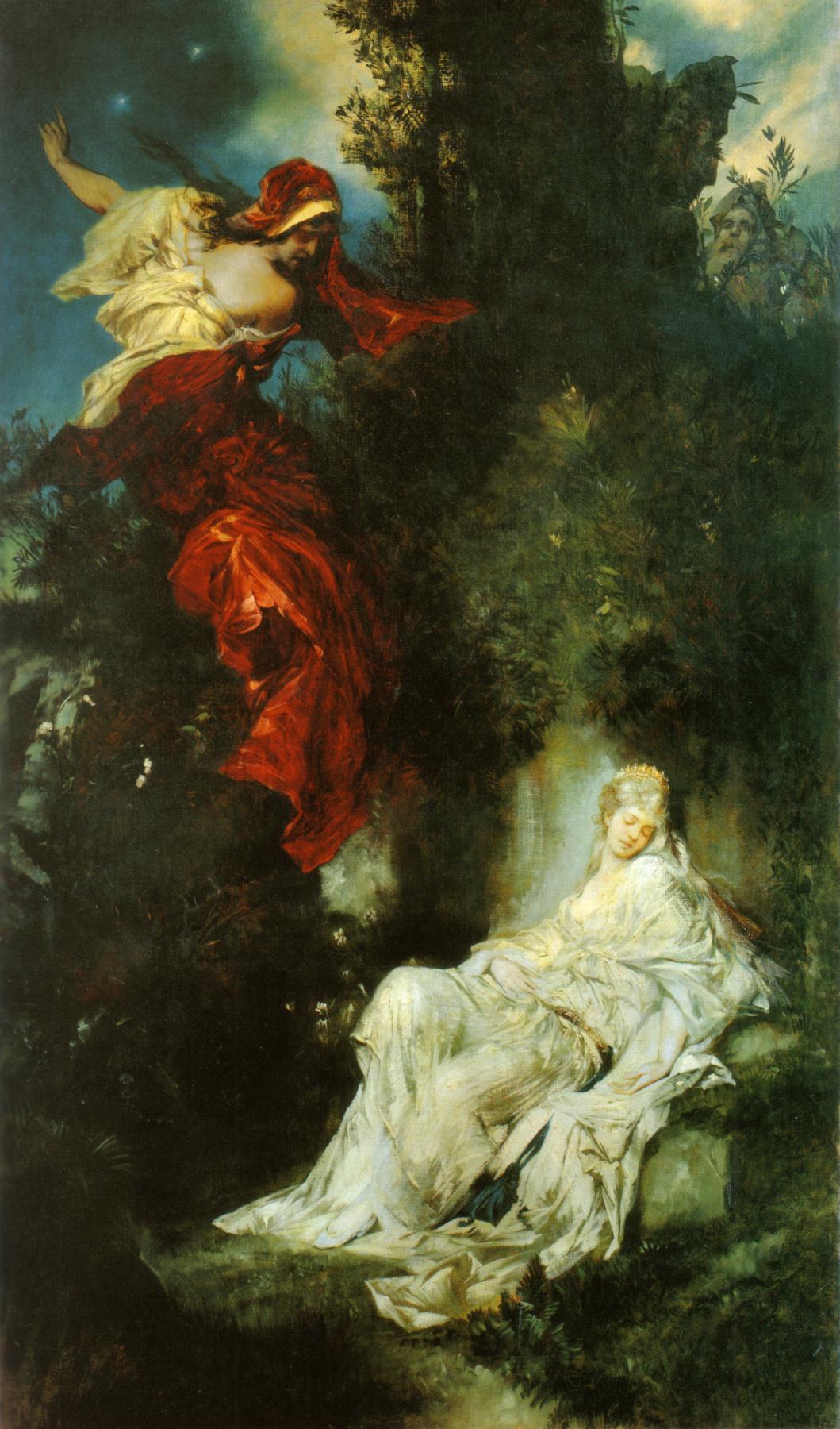 Hans Makart. A Dream Of Snow White