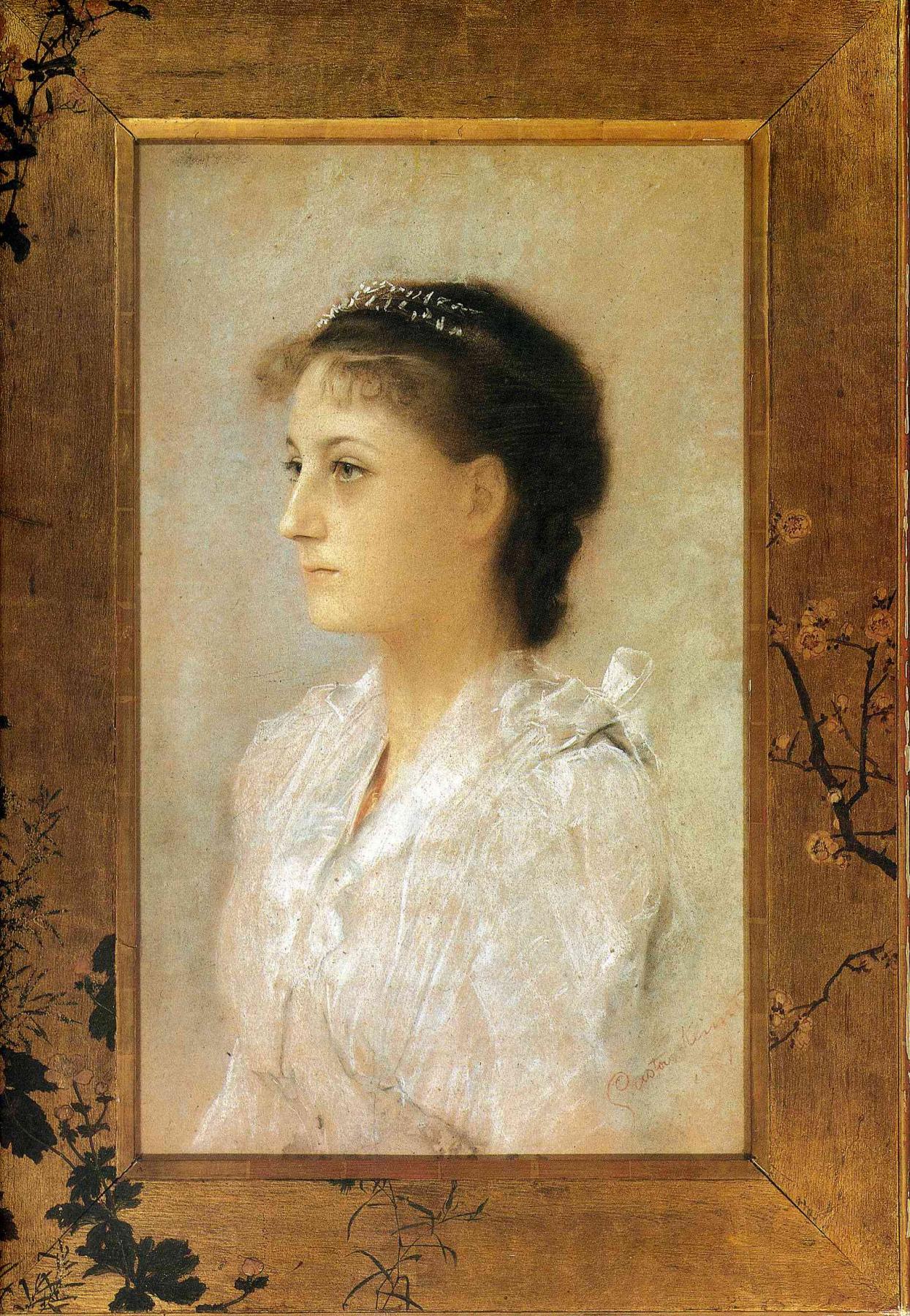 Gustav Klimt. Emilia Flee at seventeen