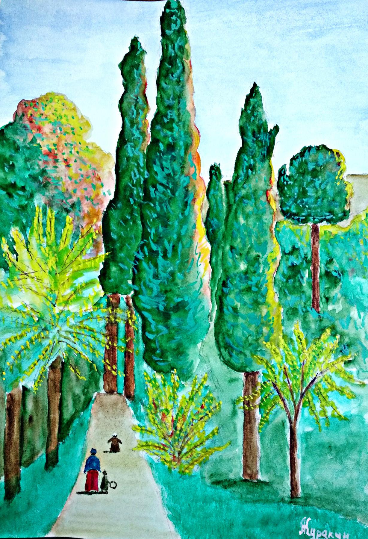 Andrey Kurakin. Landscape by Rousseau