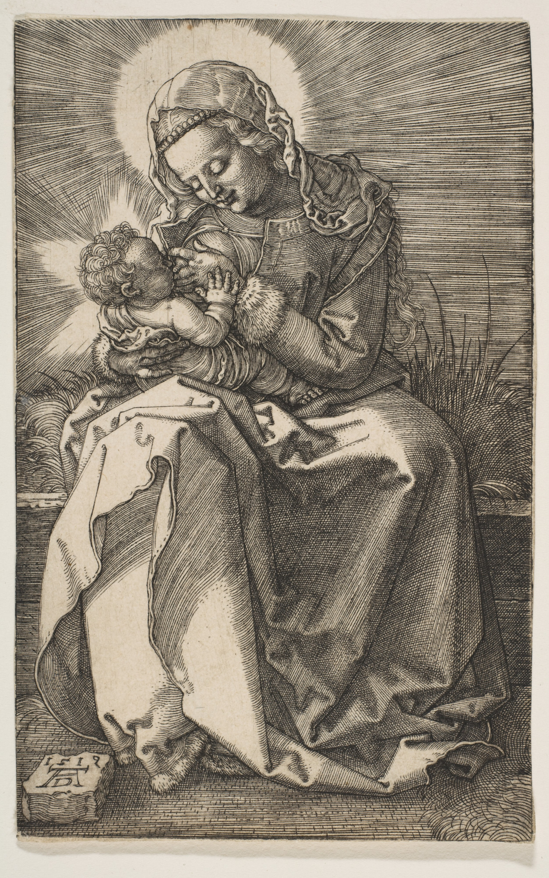 Albrecht Dürer. Mary and baby Jesus