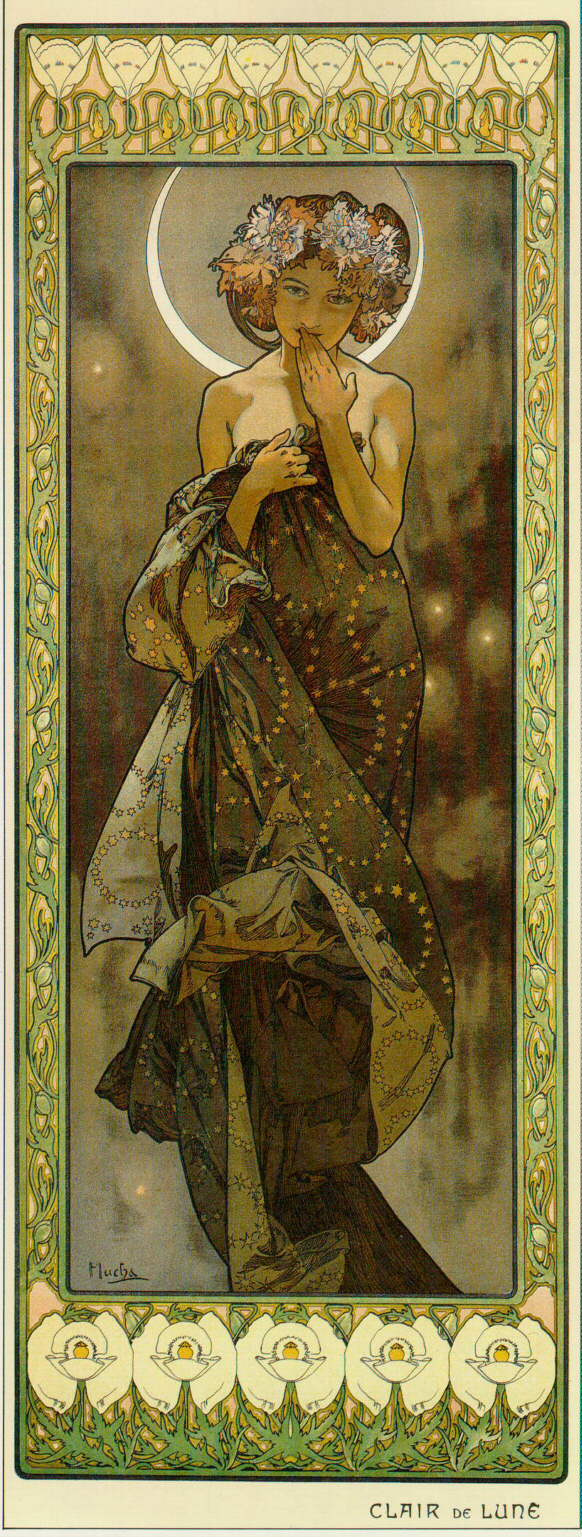"Alfons Mucha. Moon. From the series ""Moon and stars"""