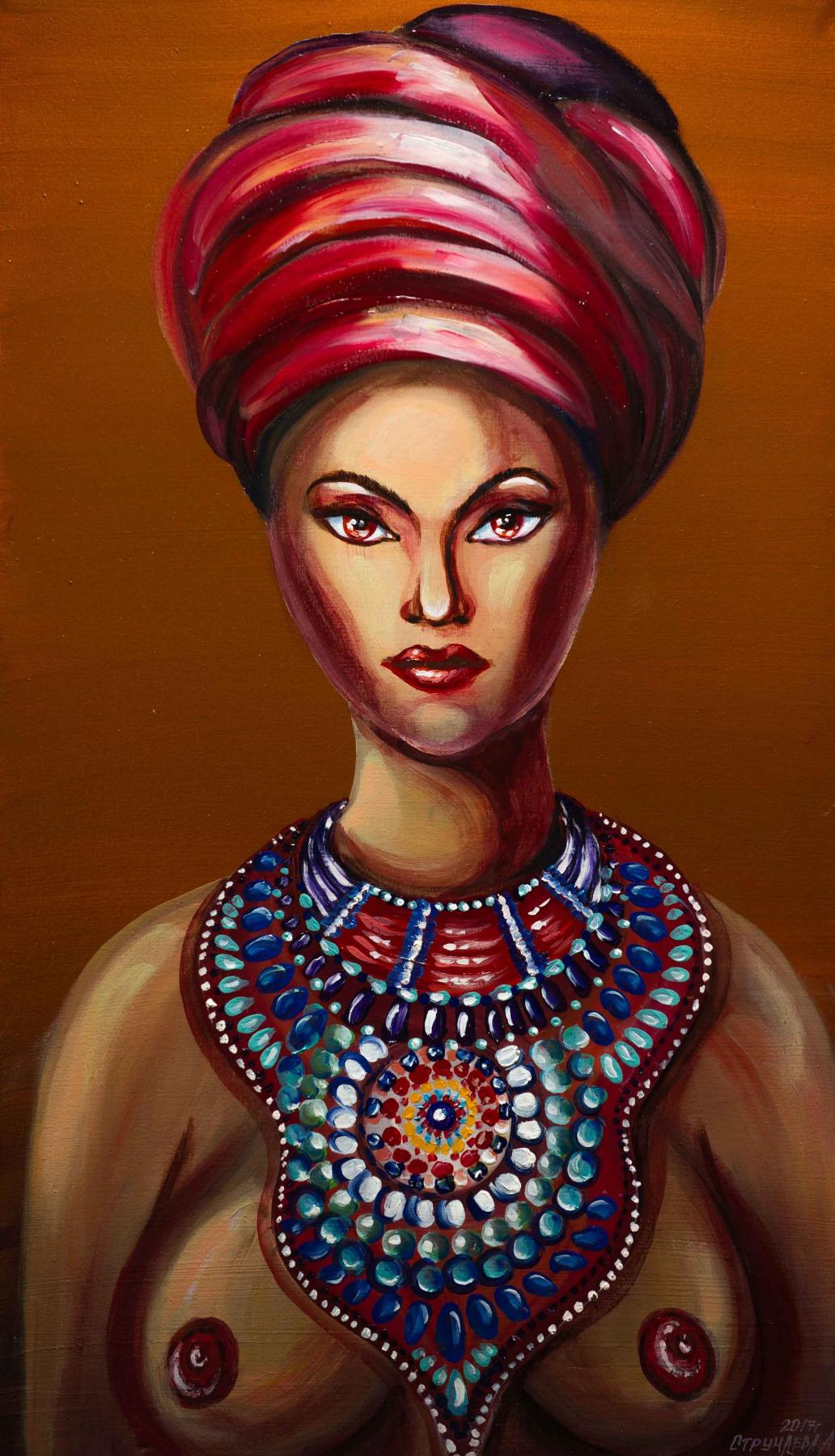 "Alla Struchayeva. Painting ""Princess Voodoo"""