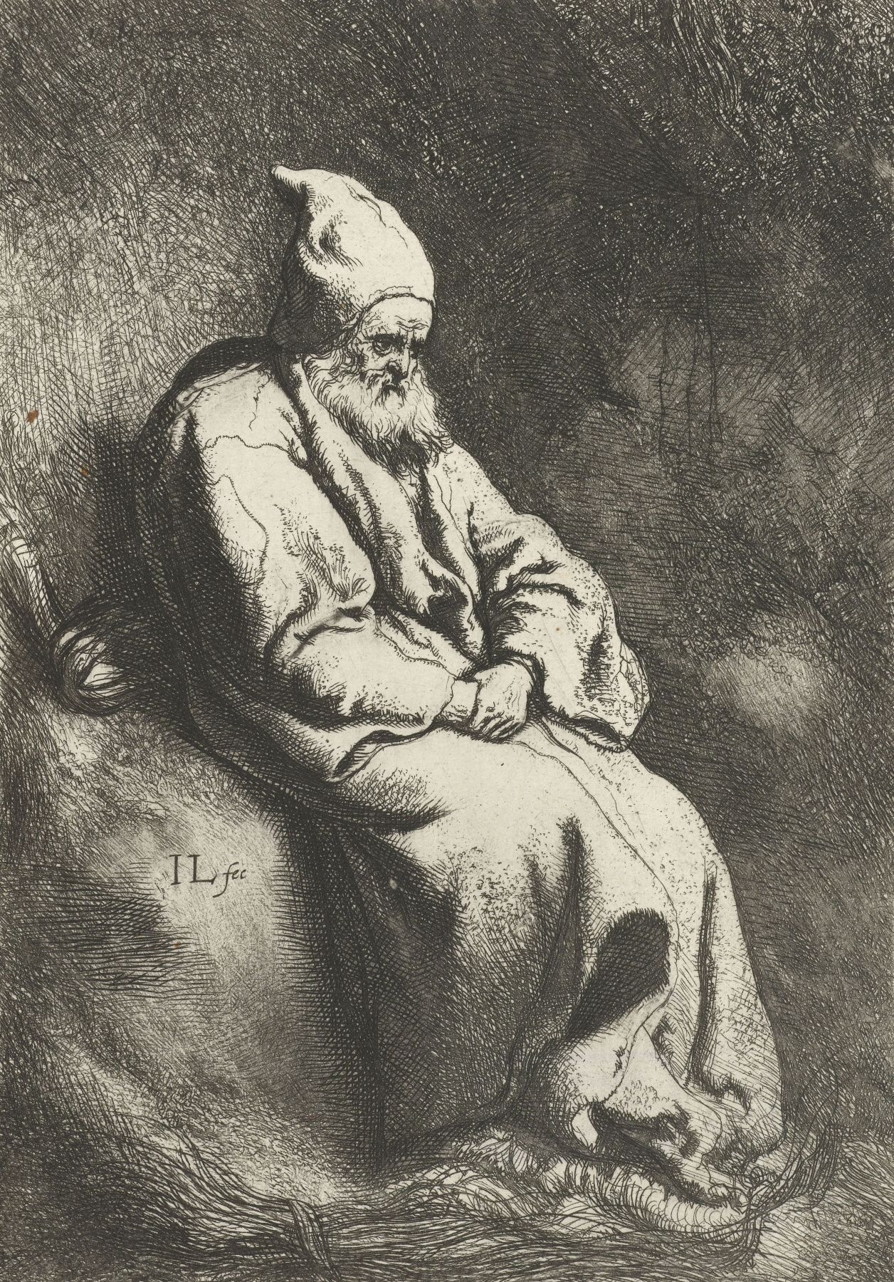 Jan Lievens. The hermit in the cave
