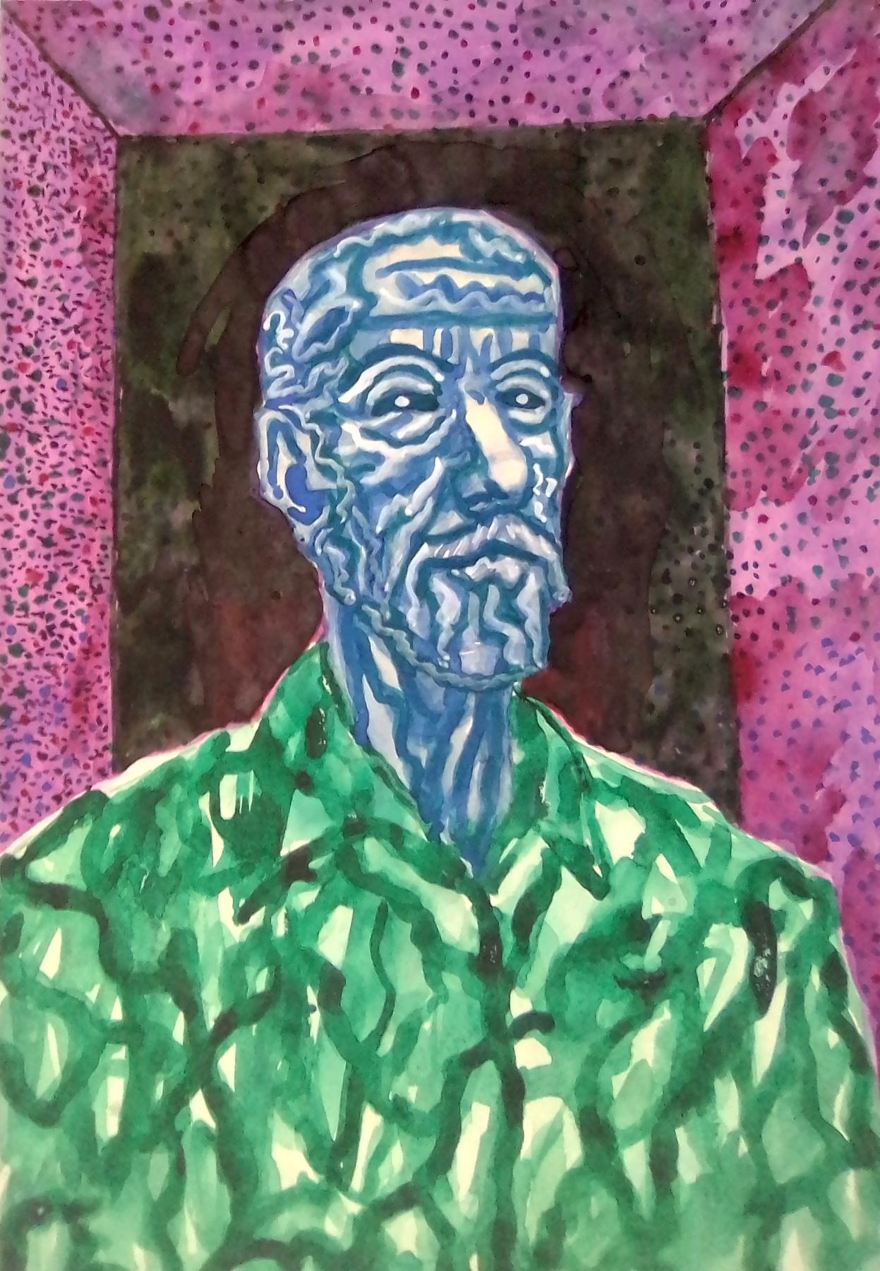 Вячеслав Коренев. Portrait of an old man