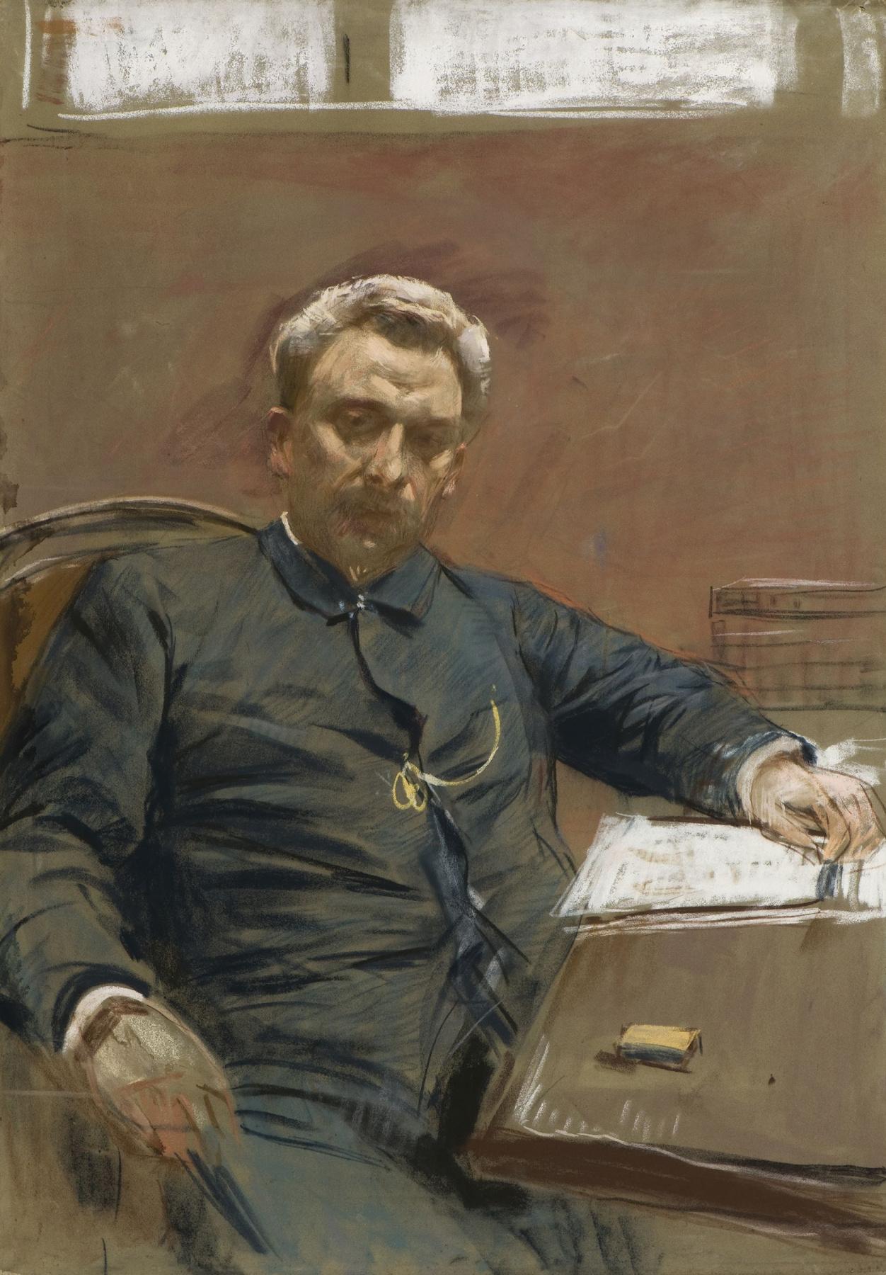 Isaac Levitan. Portrait Of A. P. Lensky