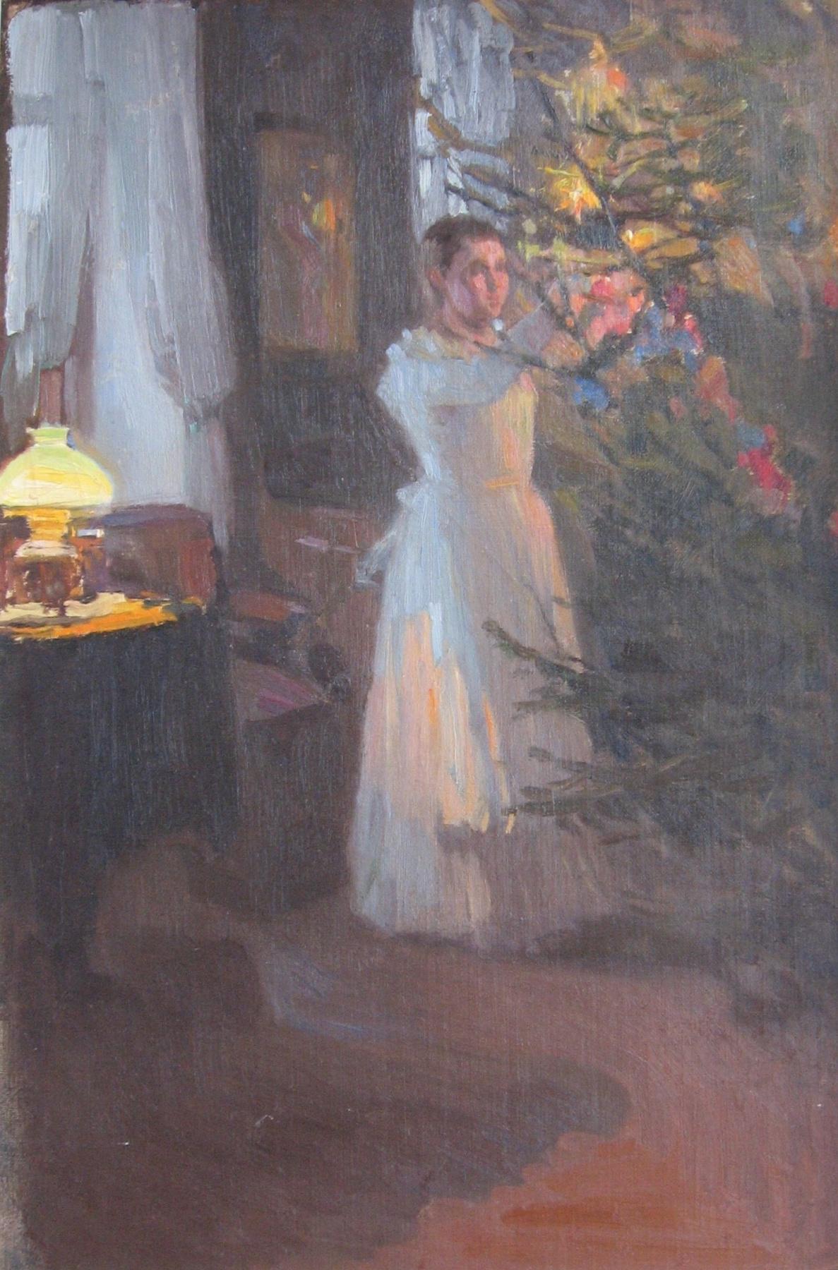 Alexey Mikhailovich Korin. Christmas tree