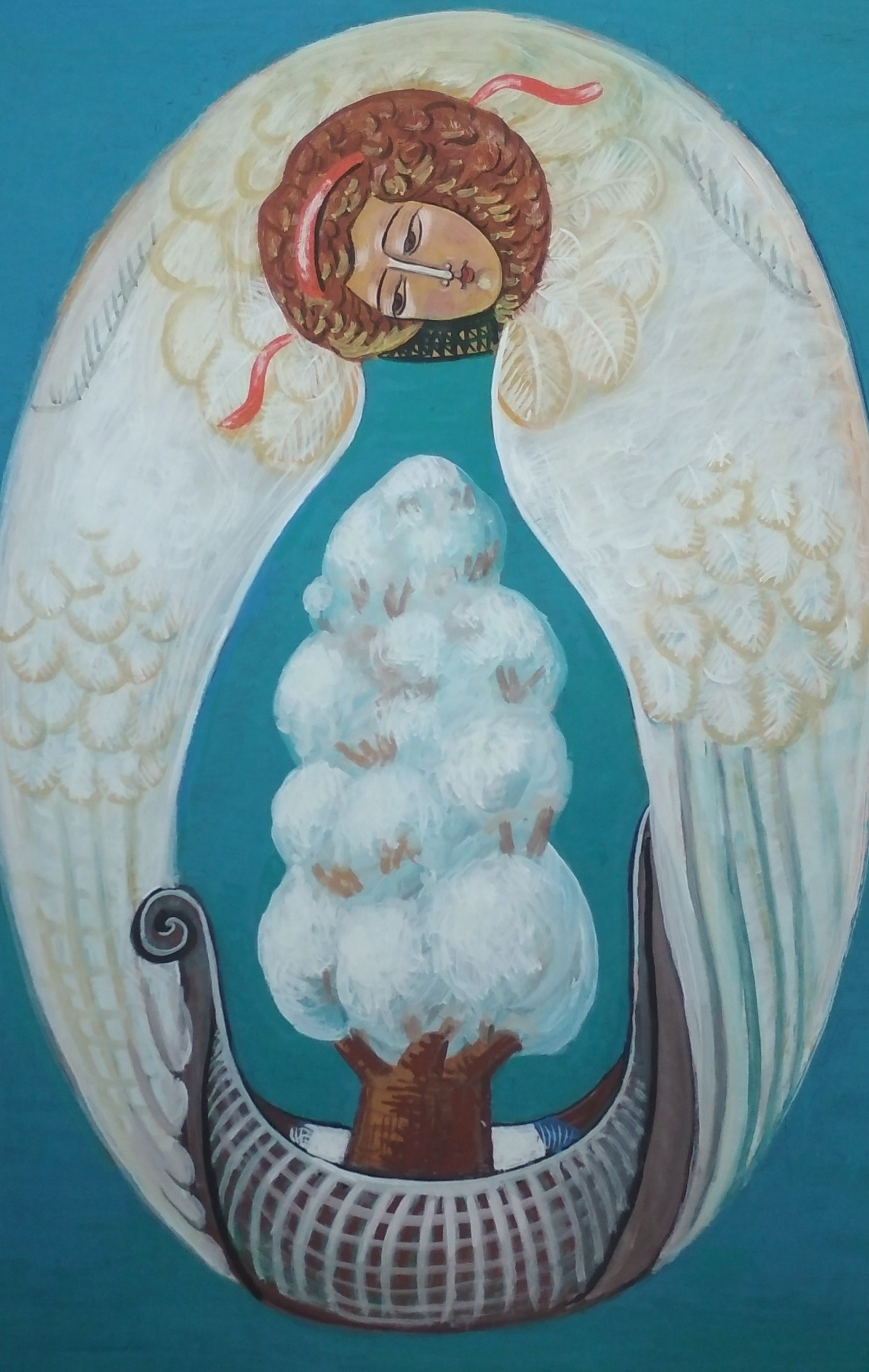 Rostislav Nikolaevich Ivanov. Angel with the Ark of the Seasons - Winter