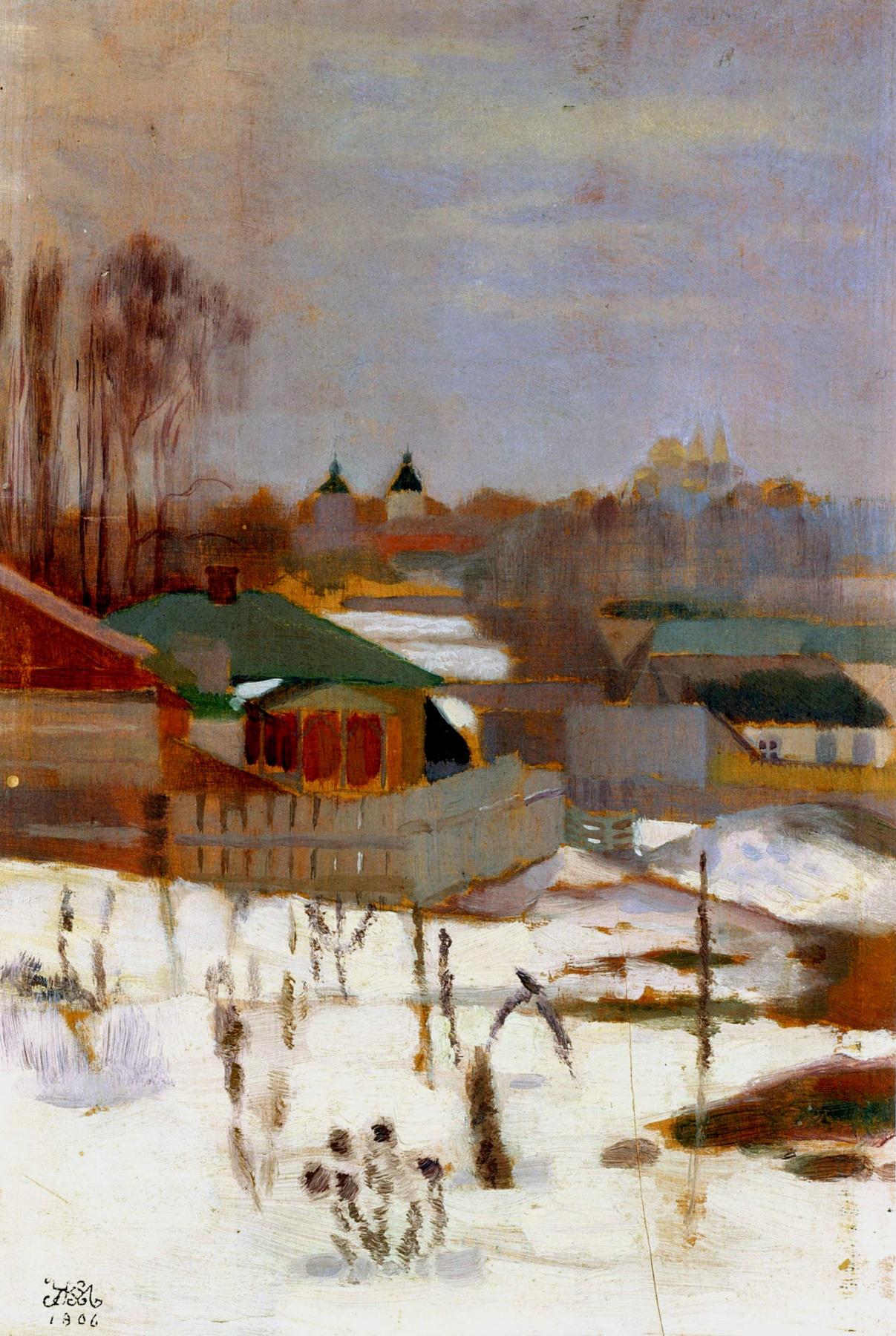 Mikhail Ivanovich the Beetle. Winter landscape