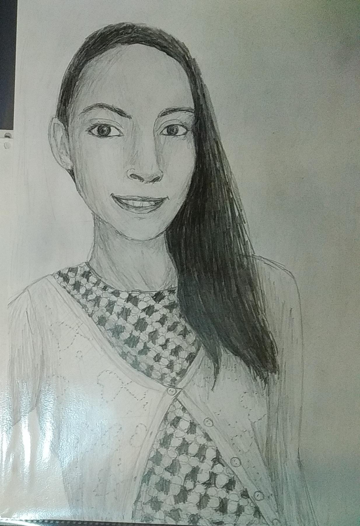 Zina Vladimirovna Parisva. Portrait of a classmate 2