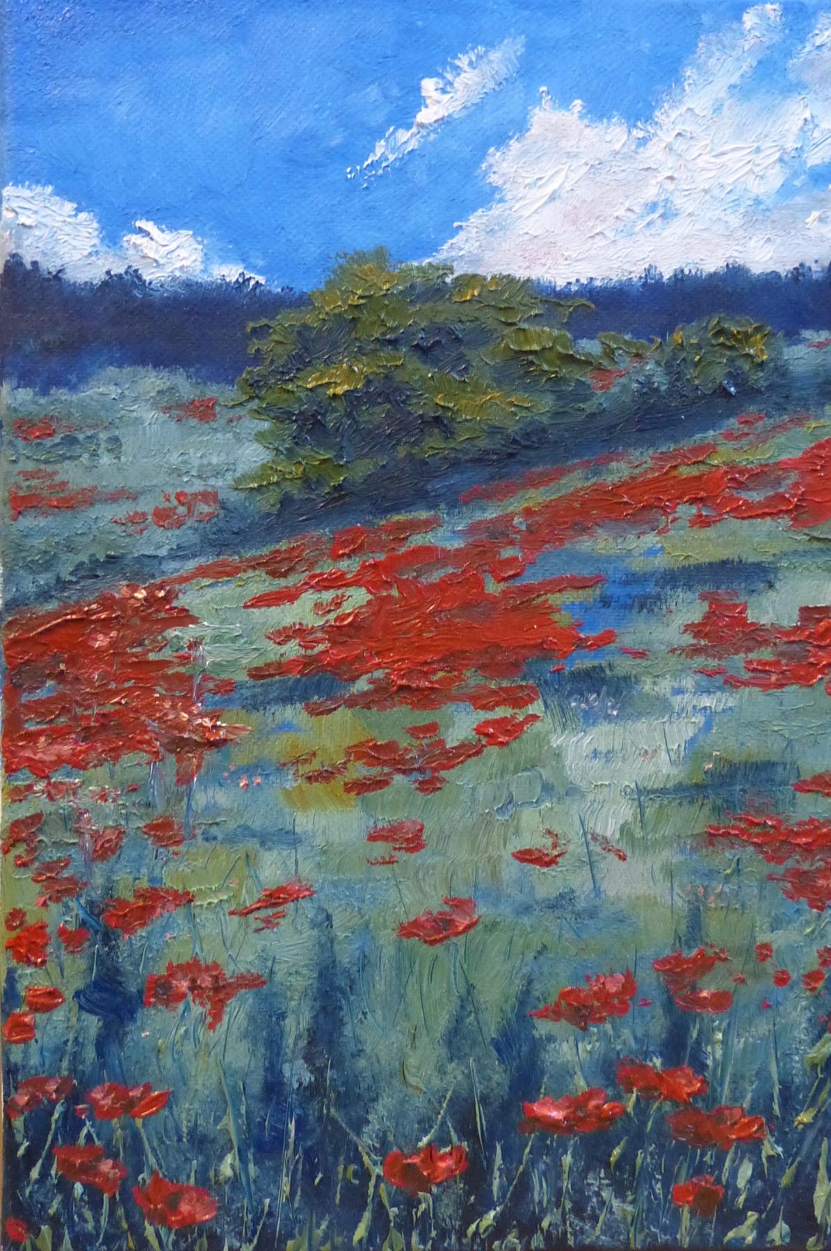 Julia Konstantinovna Quayt. Poppy field