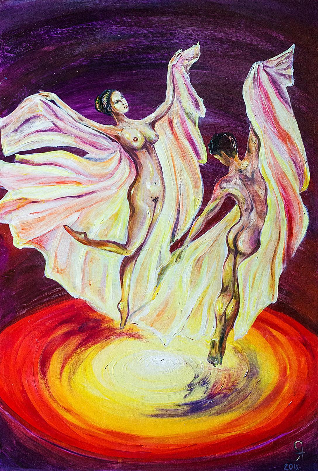 "Alla Struchayeva. Painting ""Adam and Lilith"""