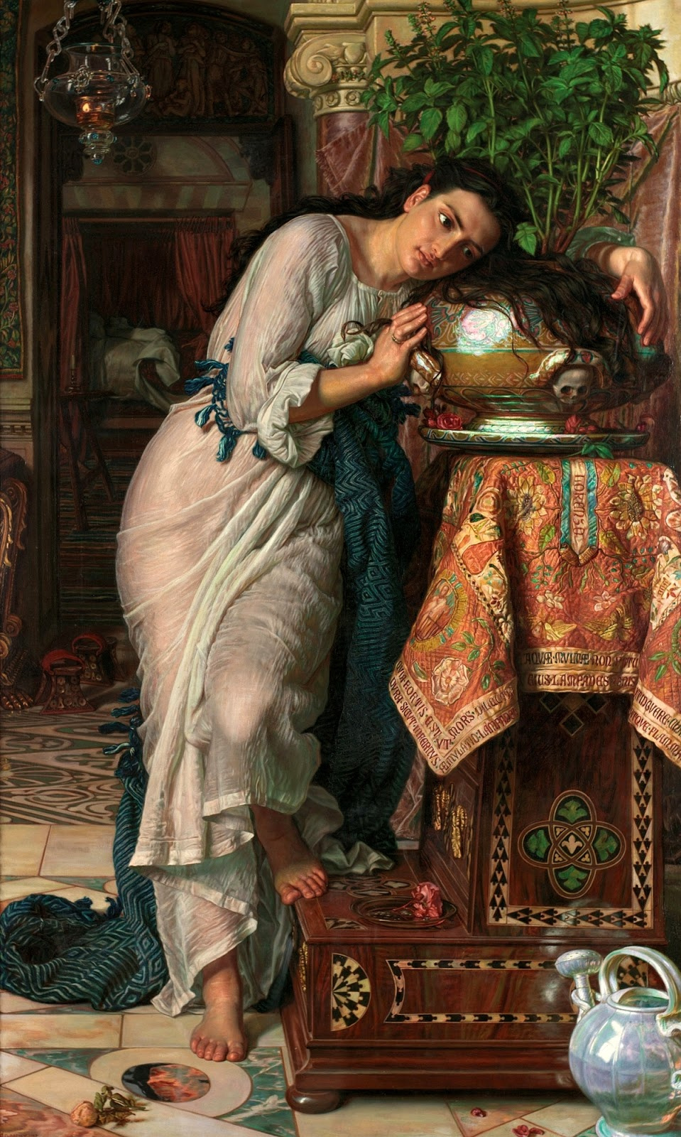 William Holman Hunt. Isabella and the pot of Basil II