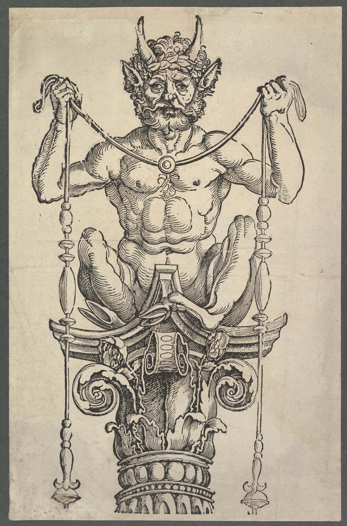 Albrecht Dürer. Great column (top block)