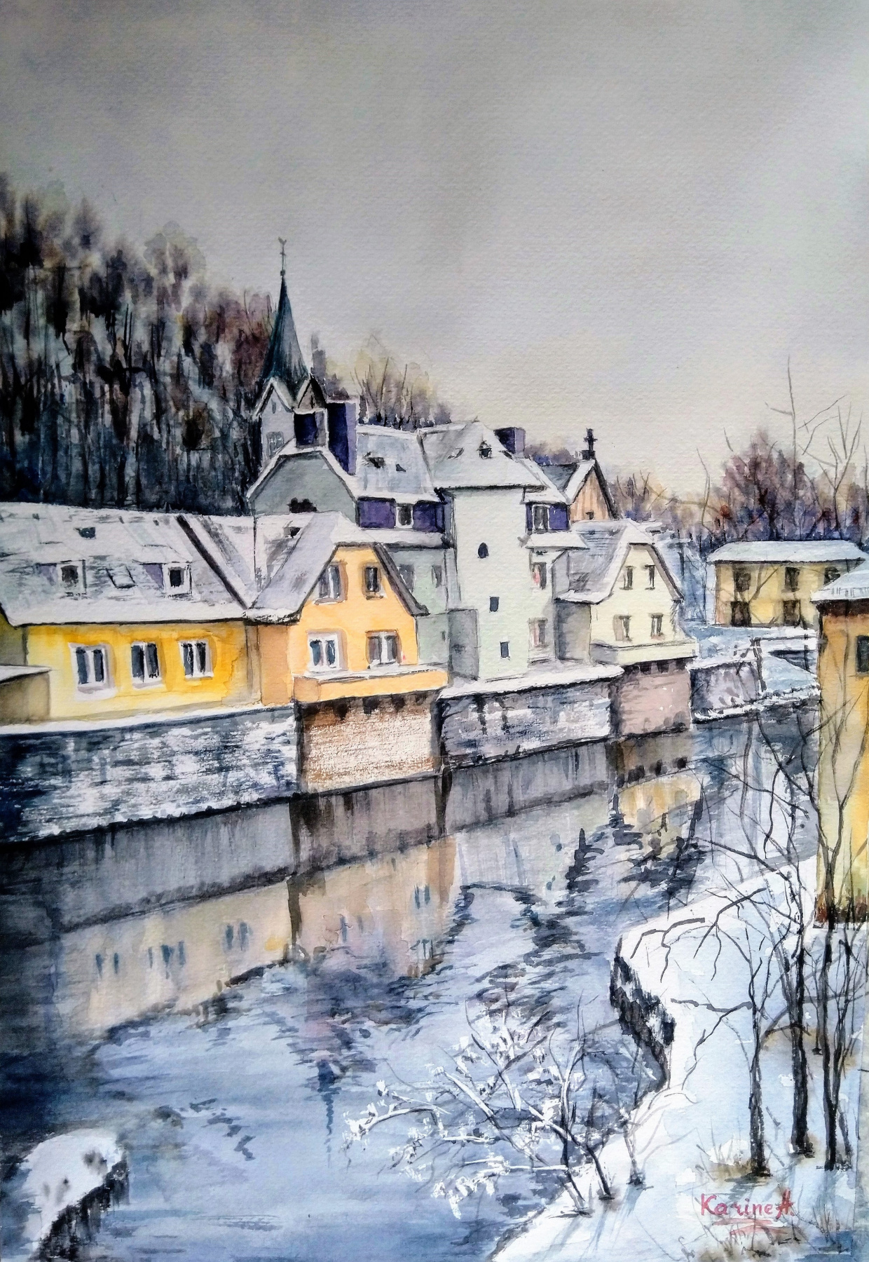 Karine Andriasyan. Cozy winter in Luxembourg