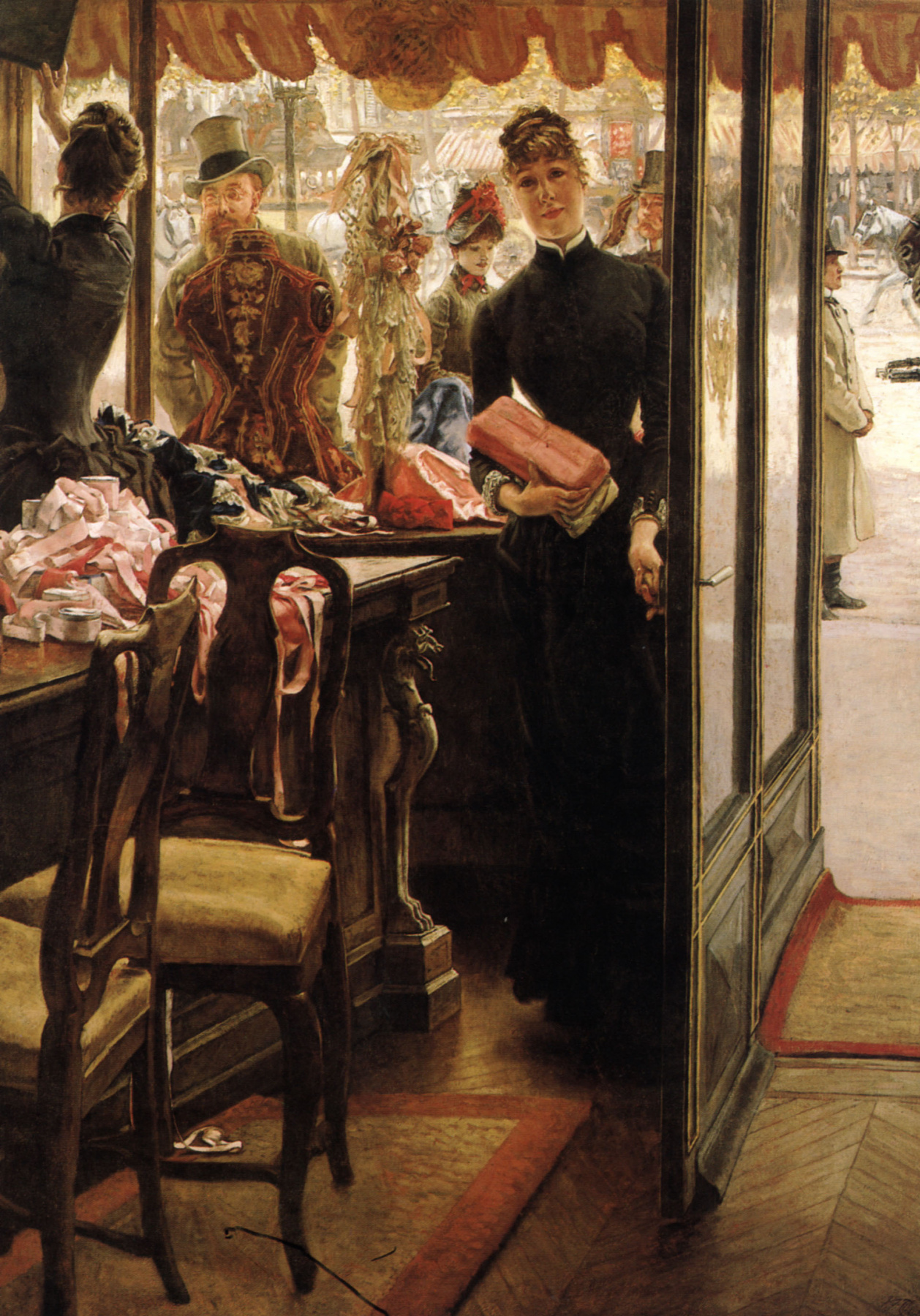 James Tissot. The girl in the shop