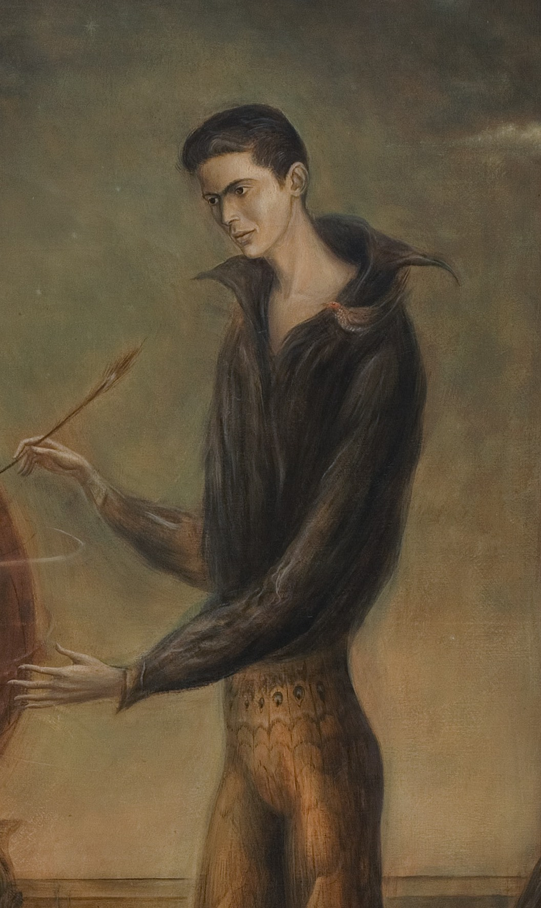Leonora Carrington. I wanted to be a bird. Fragment. Portrait Of Enrique Alvarez Felix