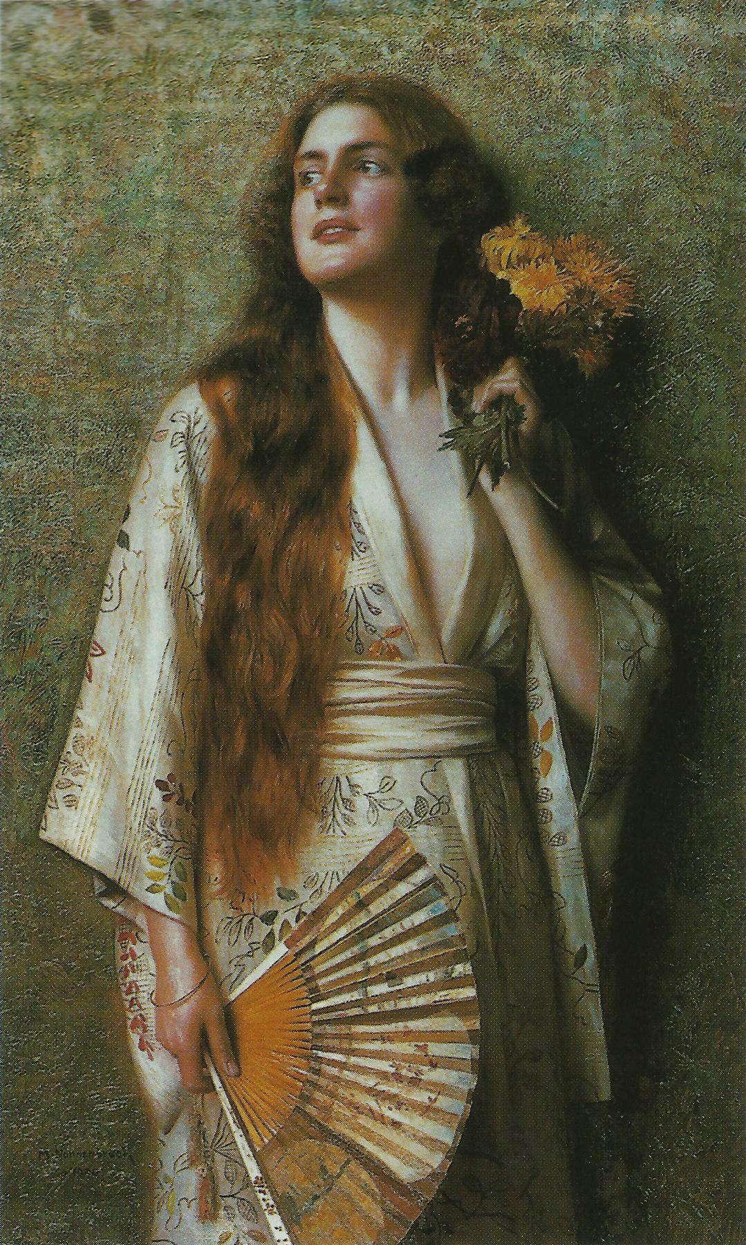 Max Nonnenbruch. Frau im Kimono mit