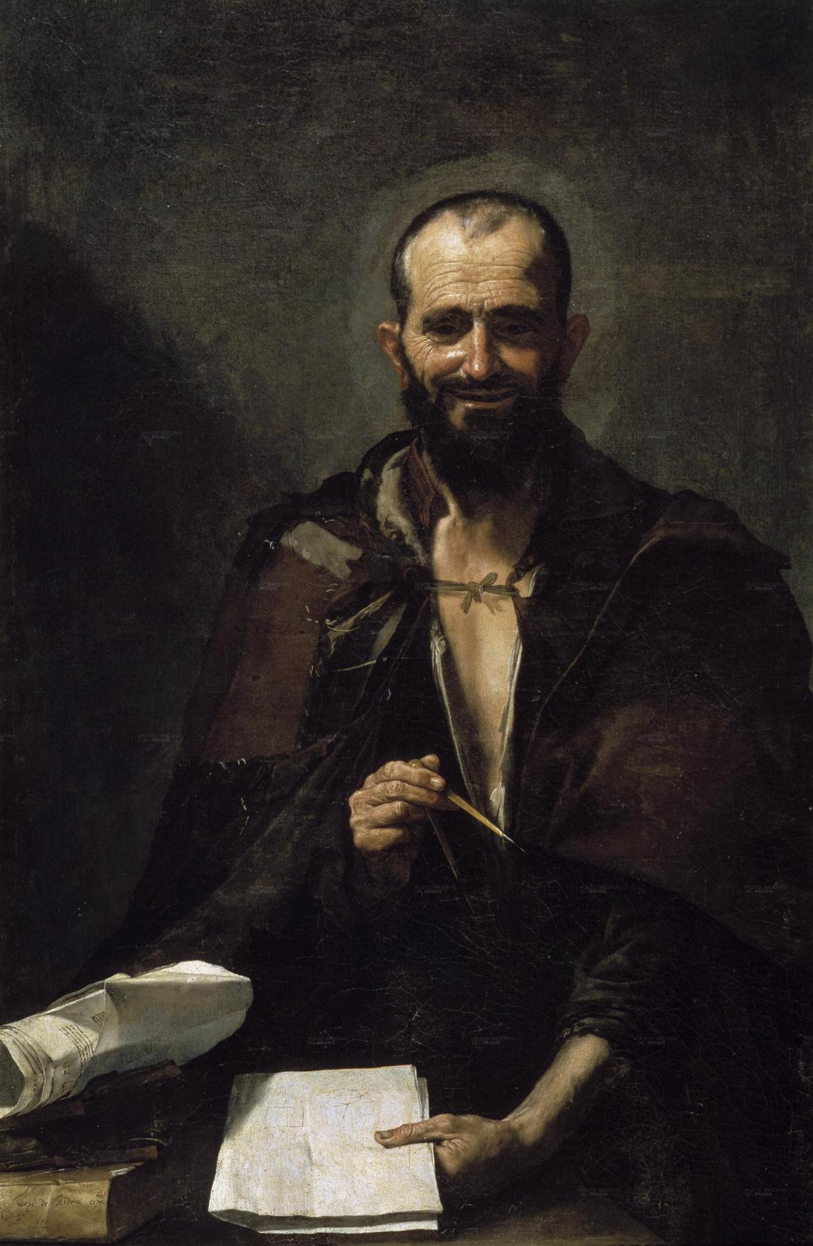 Jose de Ribera. Democritus