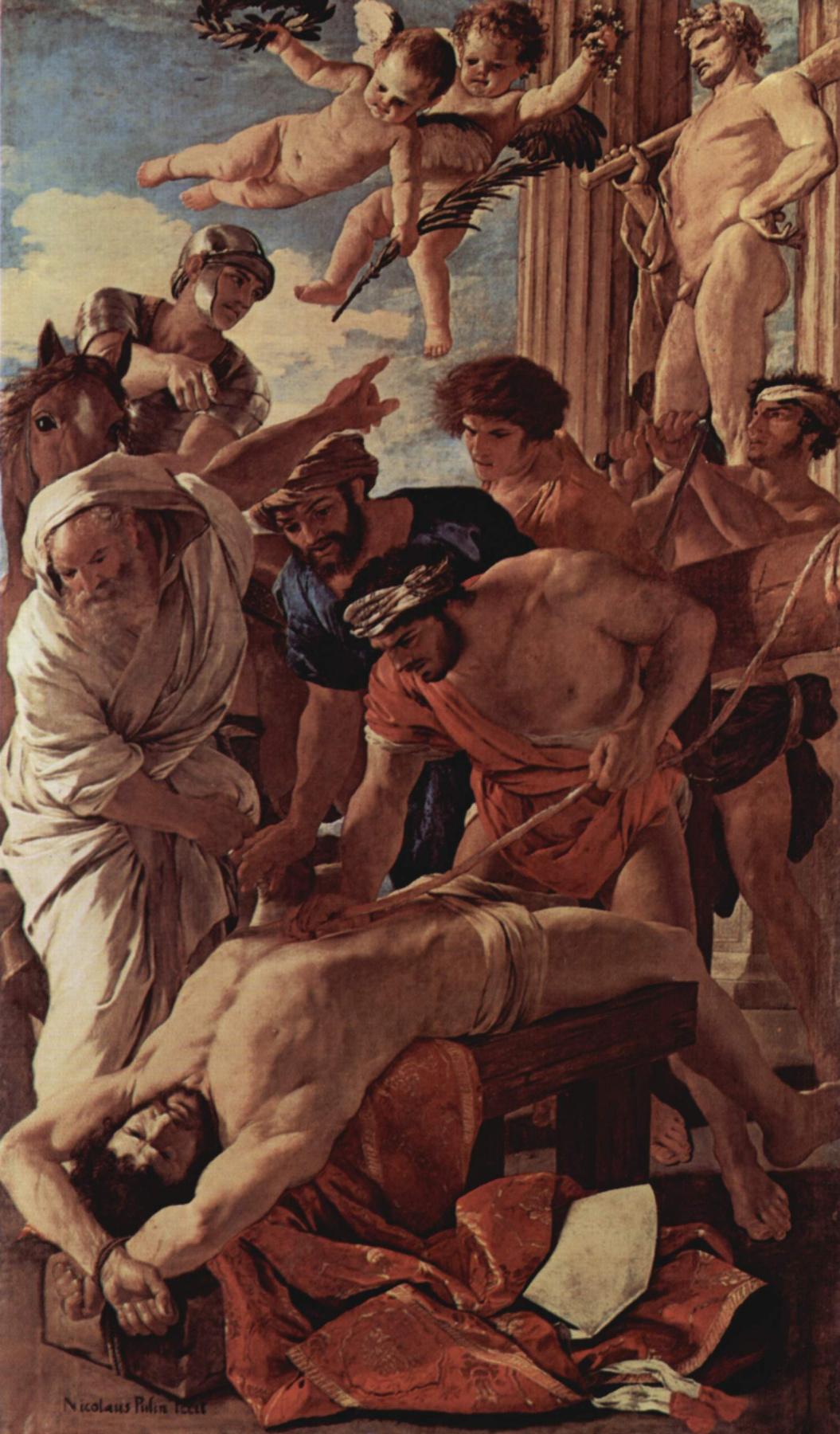Nicolas Poussin. The martyrdom of St. Erasmus