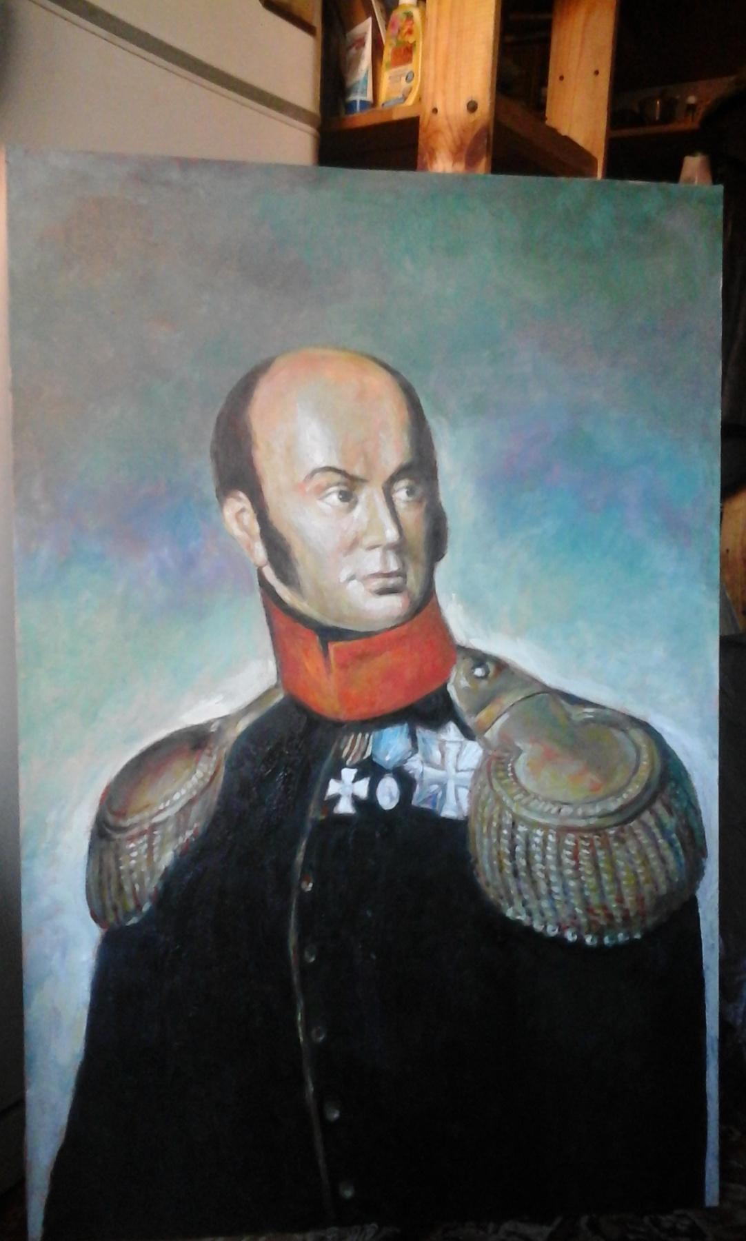 Valery Viktorovich Shechkin. Portrait of the owner of the house Prechistenka 10