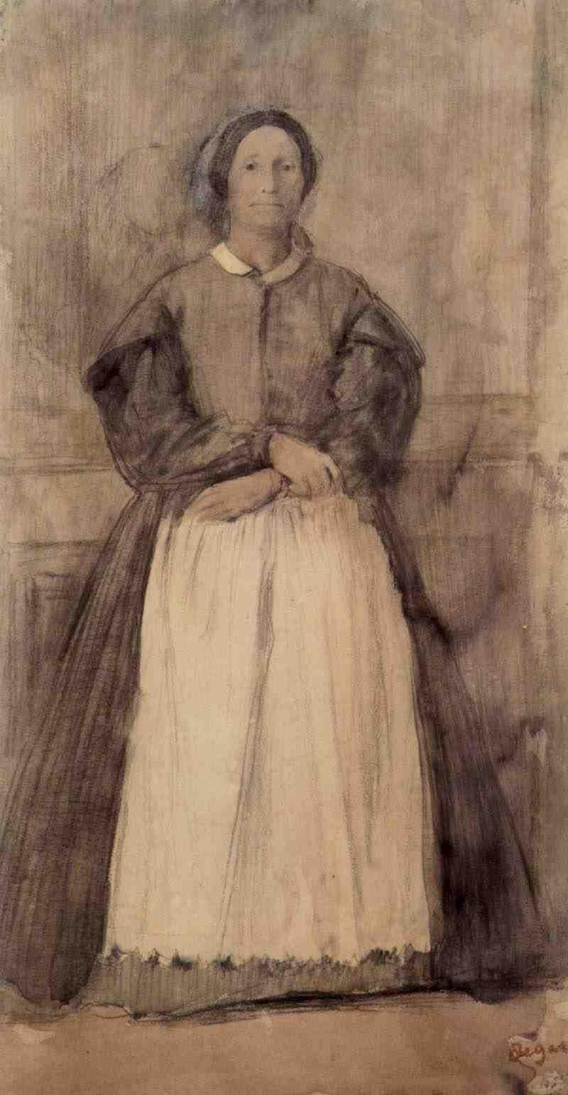 Edgar Degas. Portrait Of Rose Adelaide, Morbilli