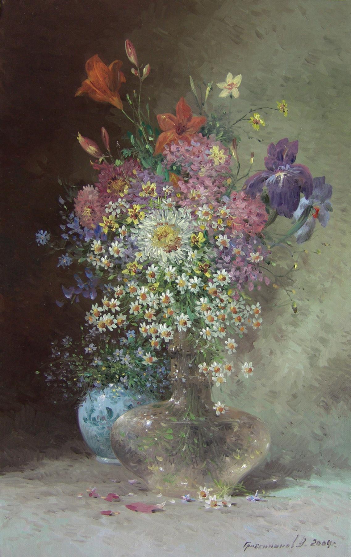 Vasily Ivanovich Gribennikov. Цветы