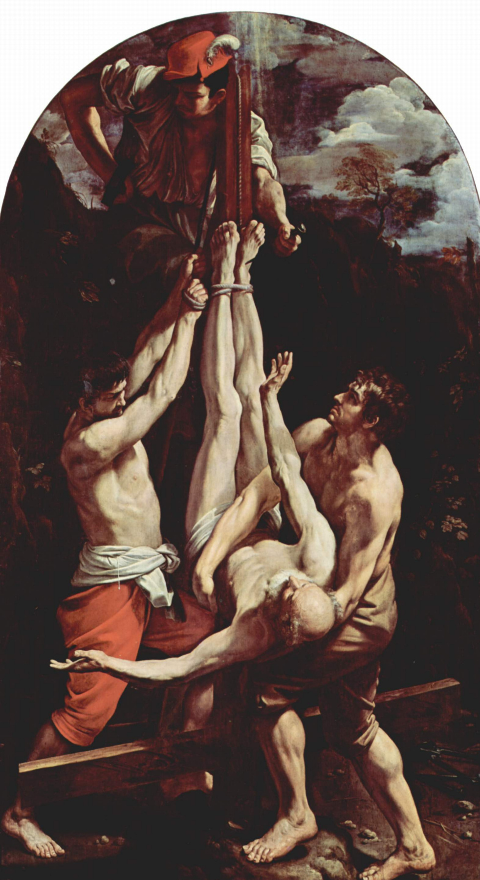 Guido Reni. The crucifixion of the Apostle Peter