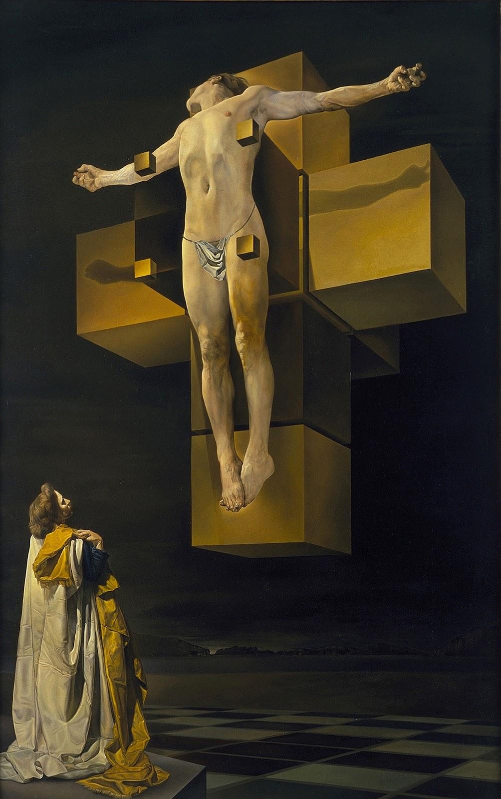 Salvador Dali. Crucifixion Hypercubic body