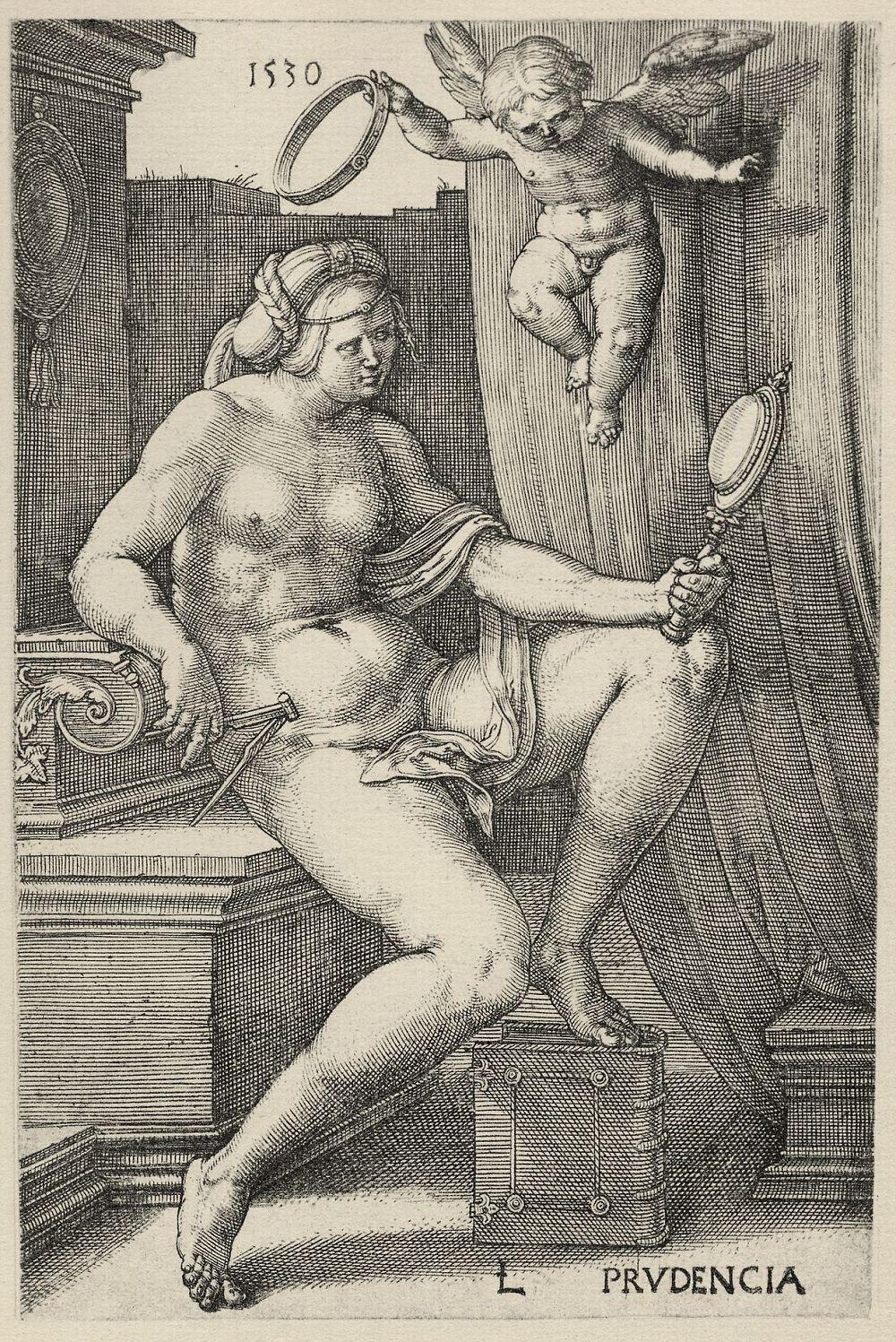 "Lucas van Leiden (Luke of Leiden). A Series Of""Virtues"" - Wisdom"