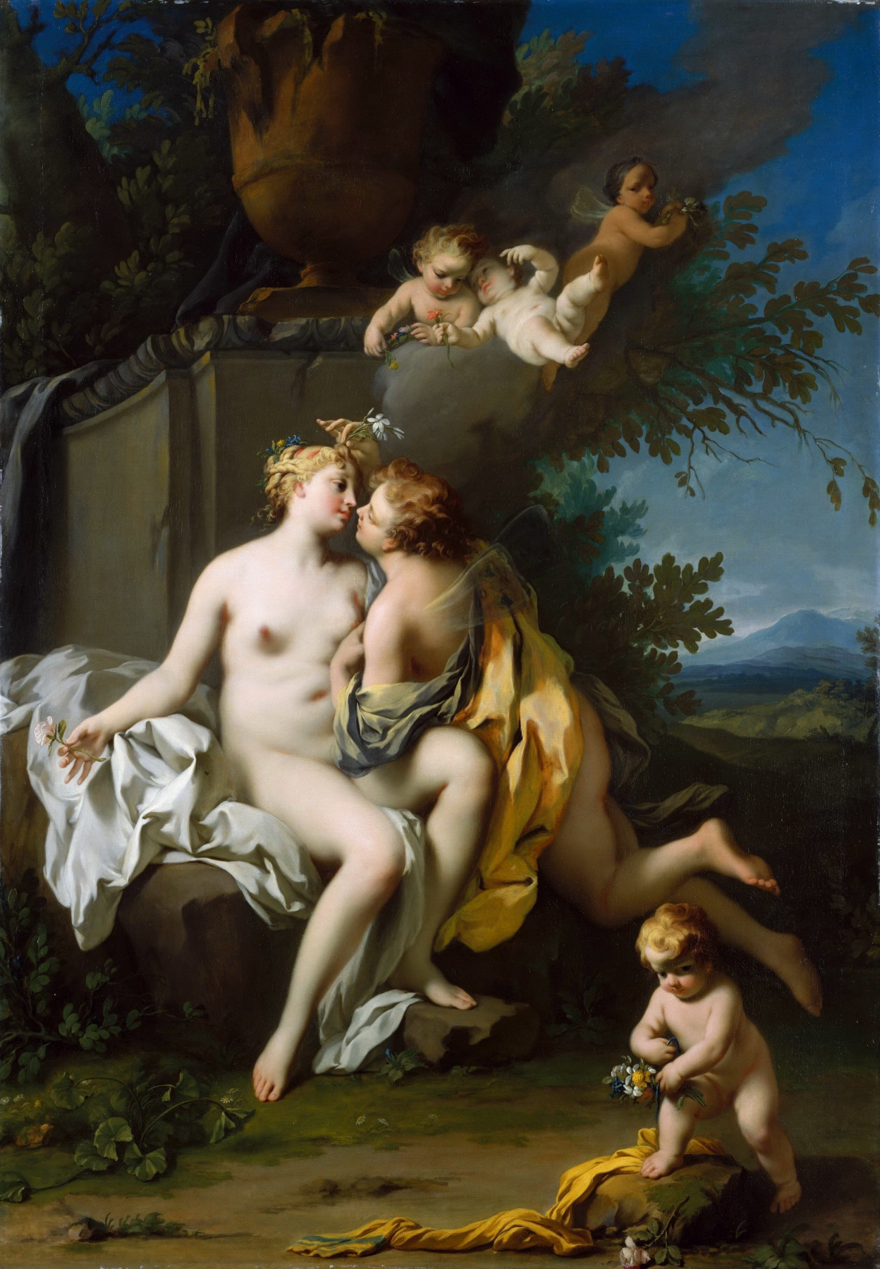 Jacopo Amigoni. Flora and Zephyr