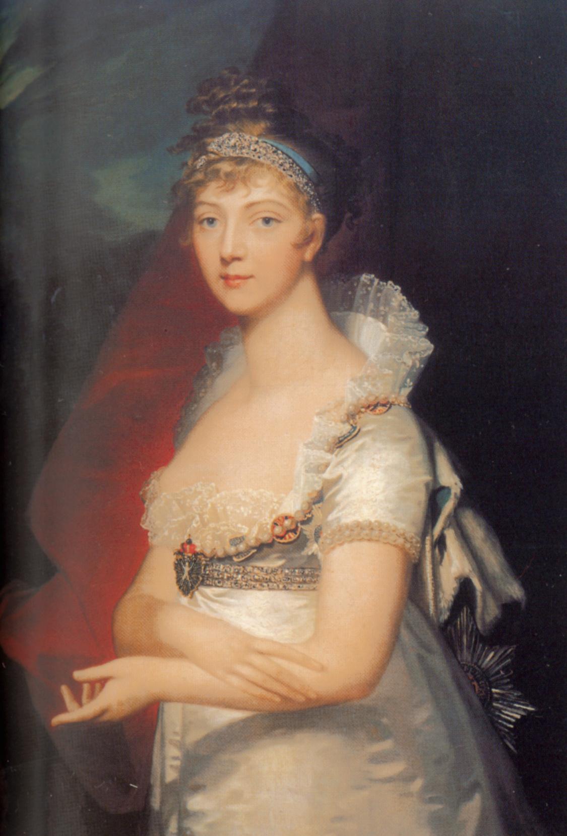 Jean Monje. Portrait of Empress Elizabeth Alexeyevna